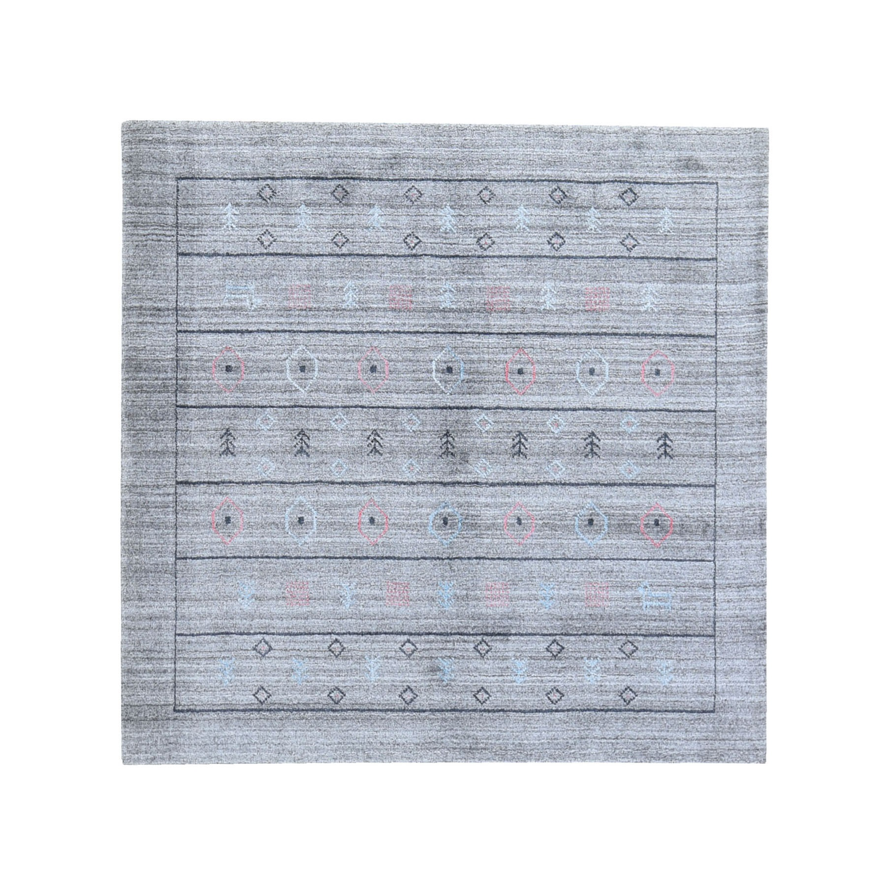 Mid Century Modern Collection Hand Loomed Grey Rug No: 1119662