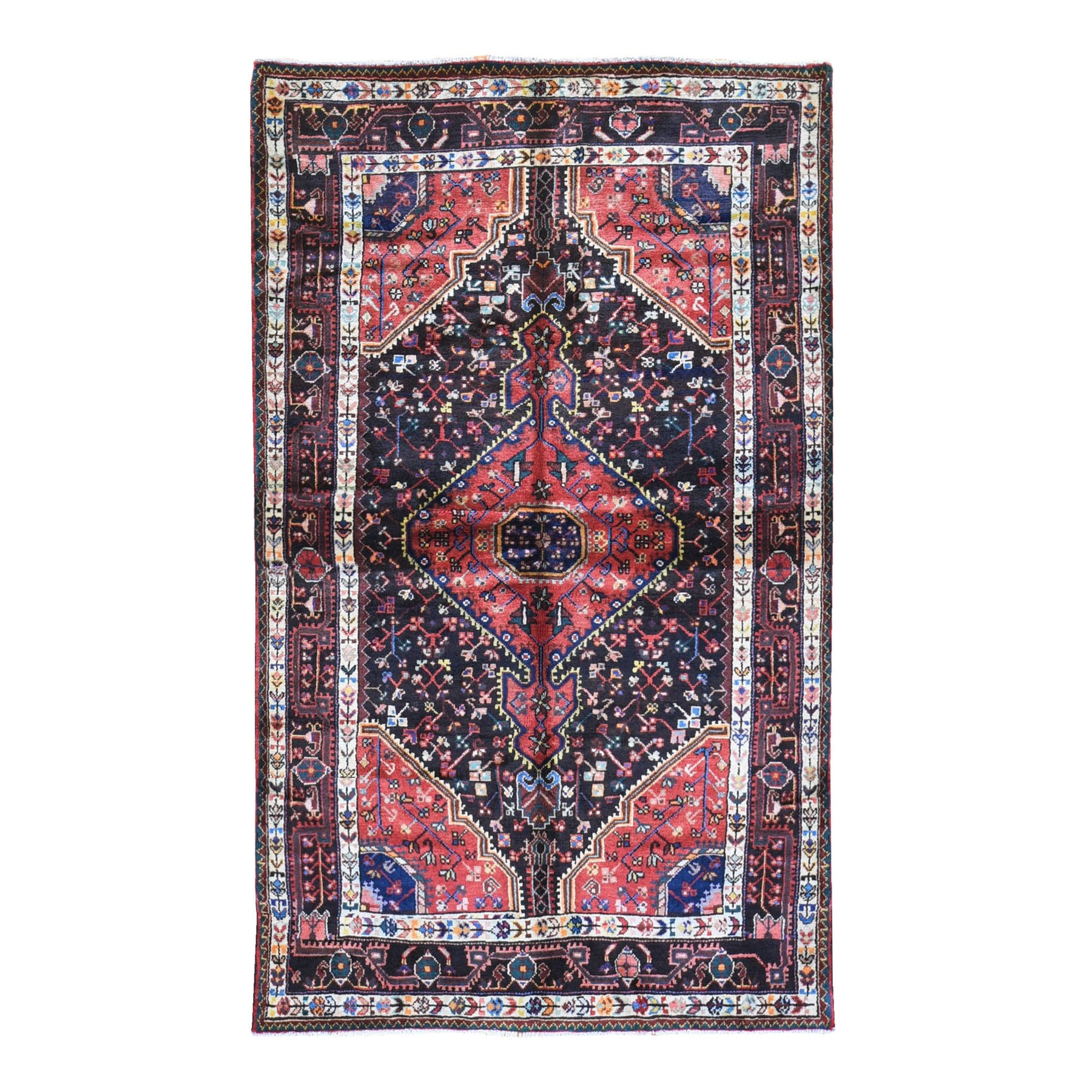 Classic Persian Collection Hand Knotted Black Rug No: 1119716