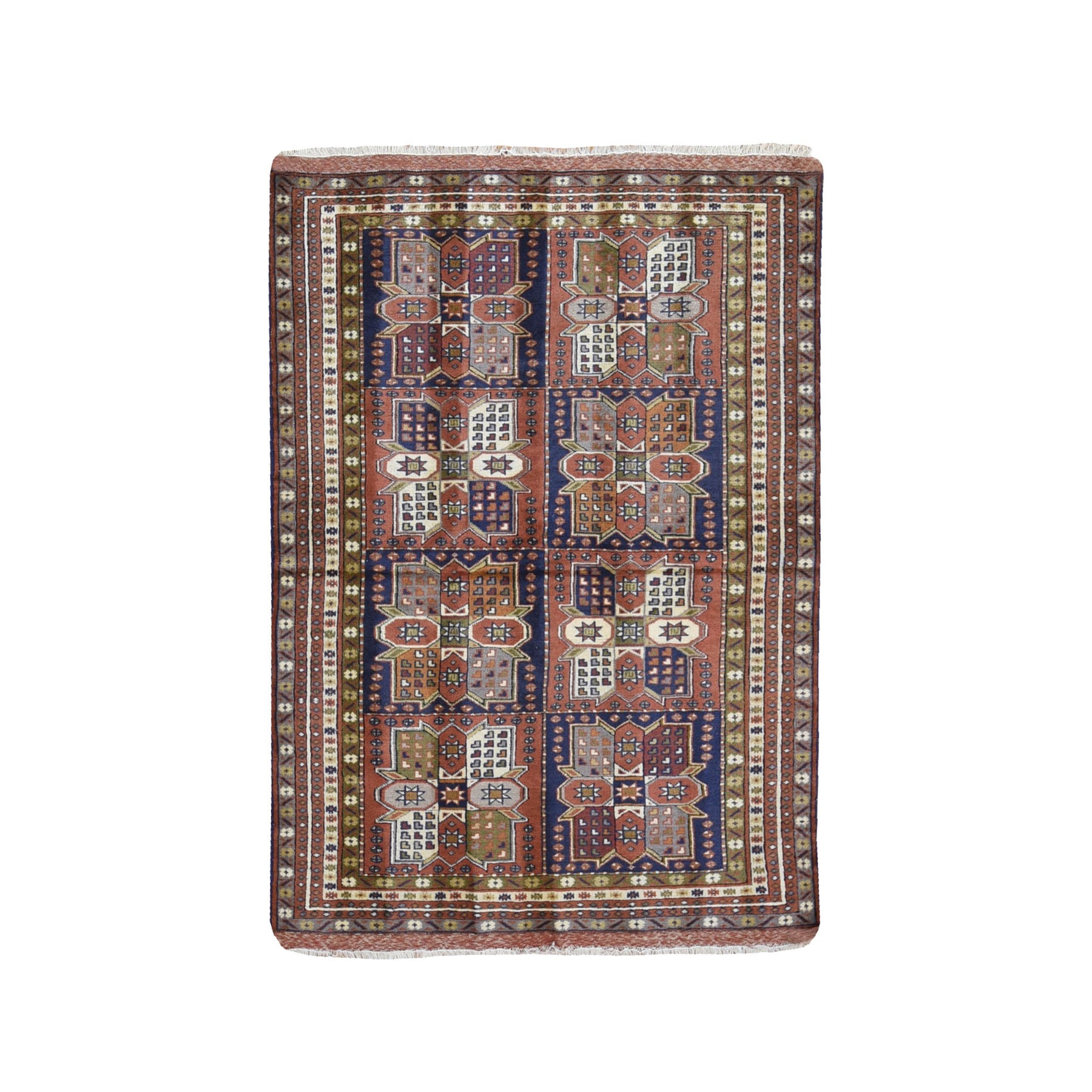 Classic Persian Collection Hand Knotted Orange Rug No: 1119732