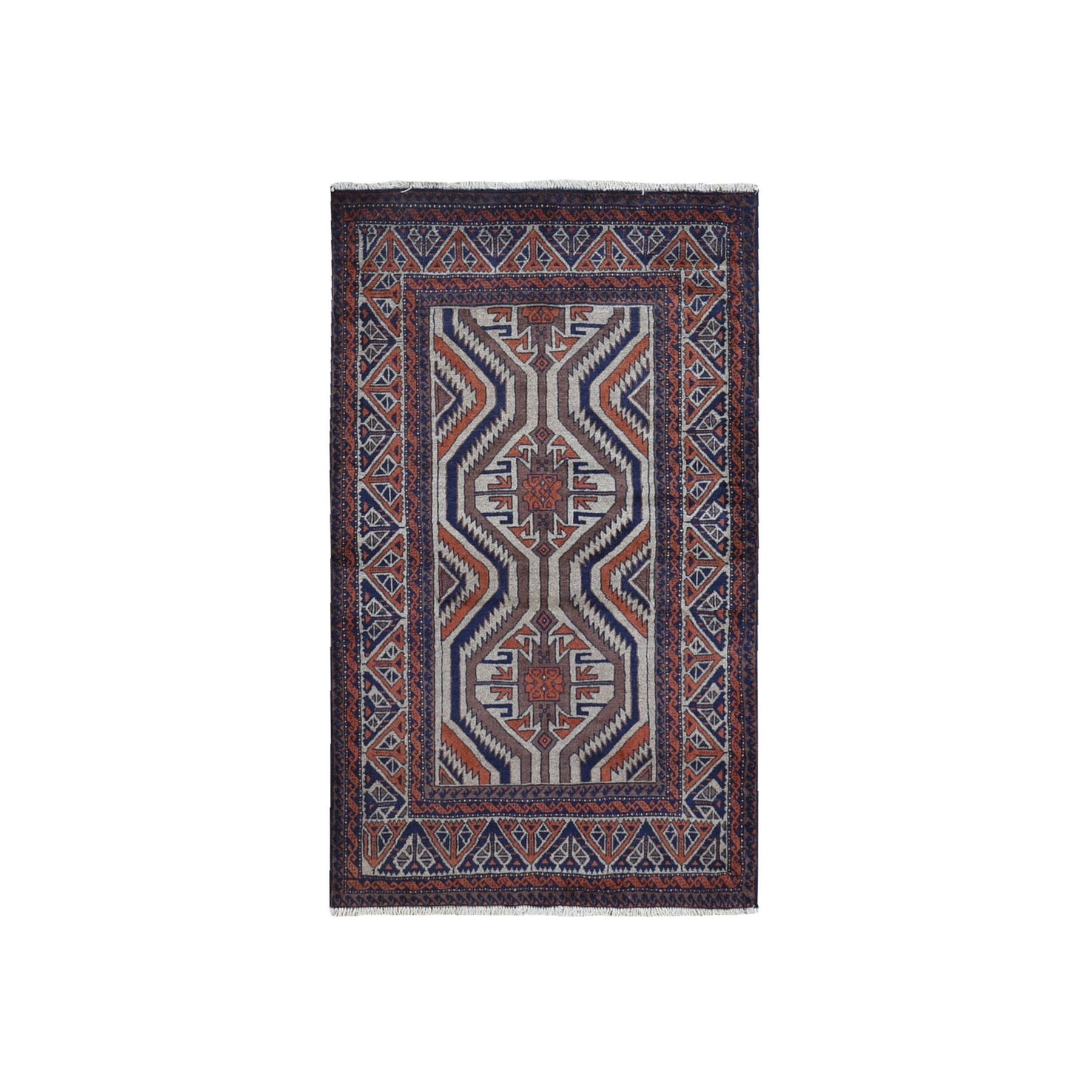Classic Persian Collection Hand Knotted Orange Rug No: 1119758