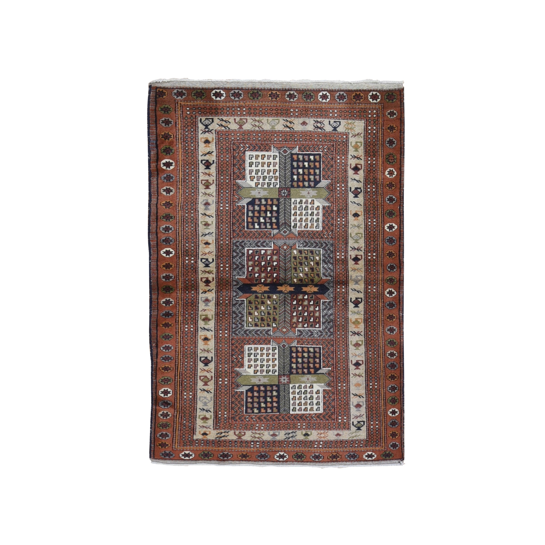 Classic Persian Collection Hand Knotted Brown Rug No: 1119850