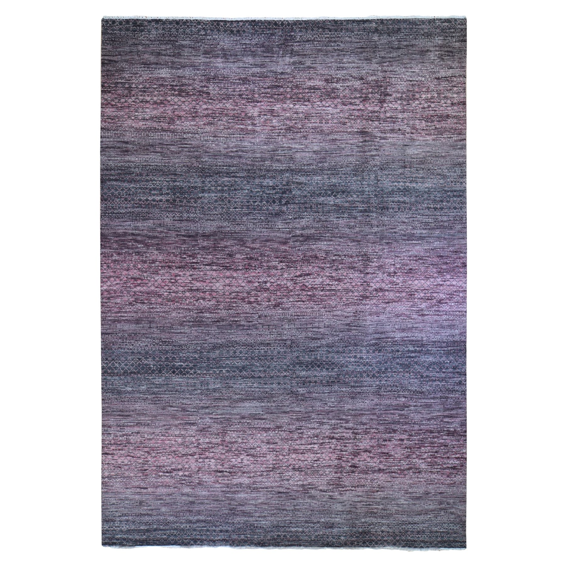 Mid Century Modern Collection Hand Knotted Pink Rug No: 1119934