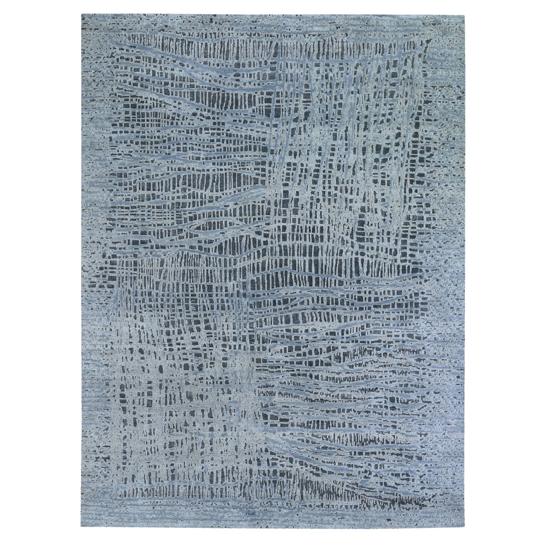 Transitional Hand Knotted Grey Rug No: 1119900