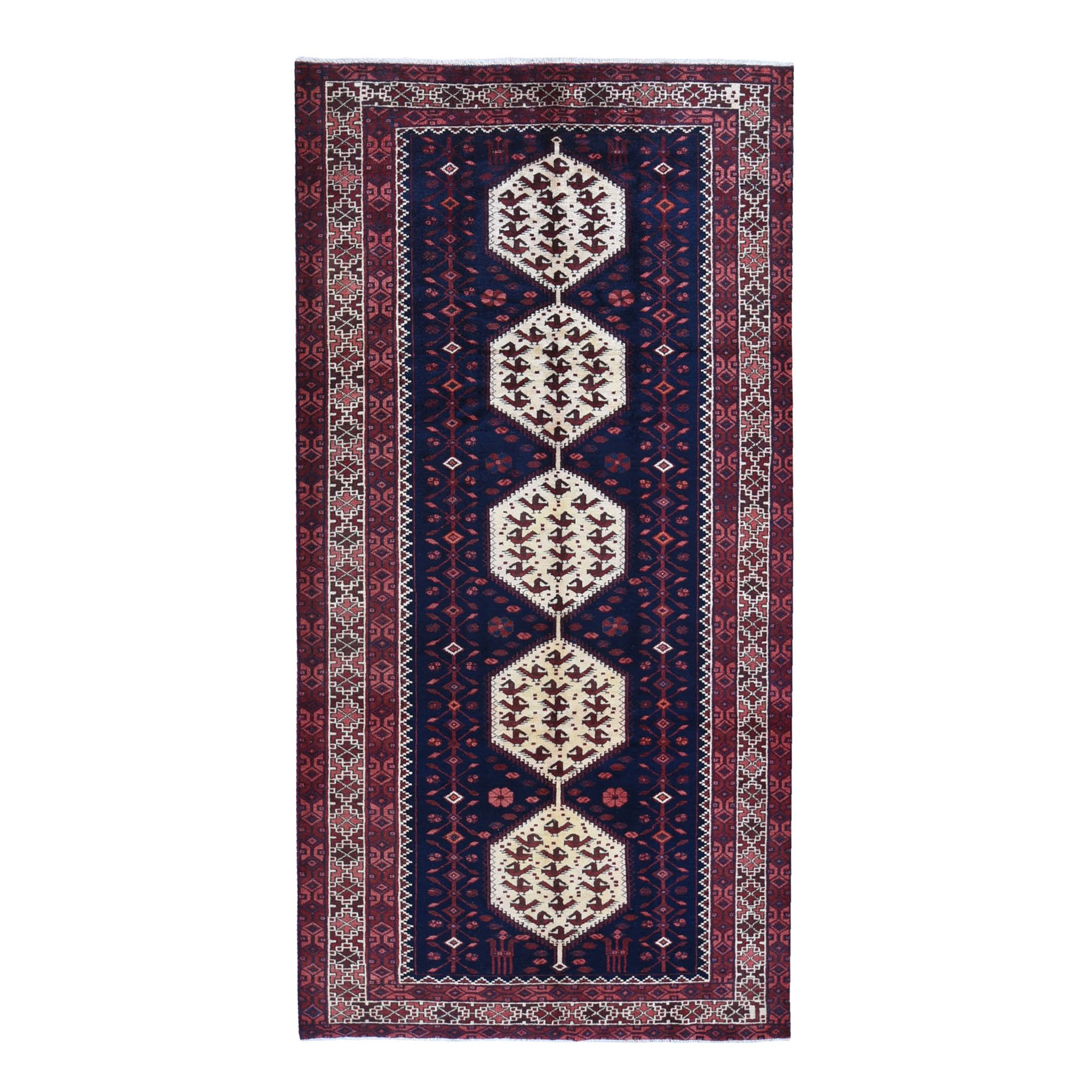 Classic Persian Collection Hand Knotted Blue Rug No: 1119878