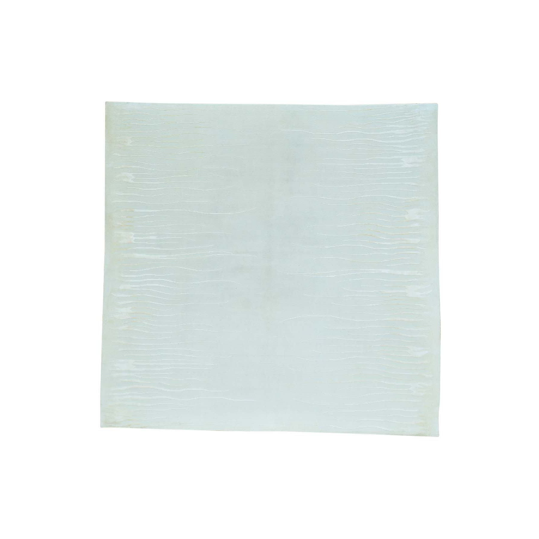Mid Century Modern Collection Hand Knotted Ivory Rug No: 160194