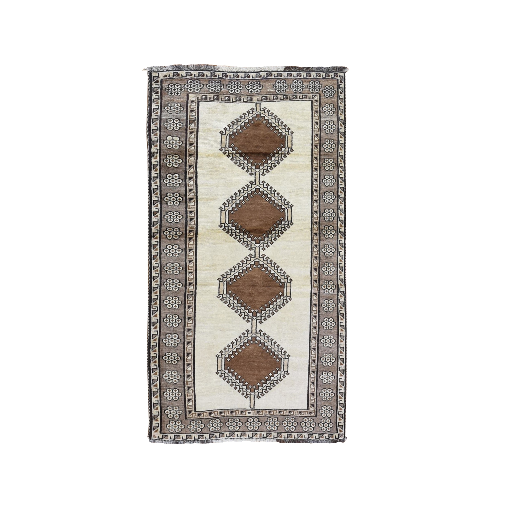 Classic Persian Collection Hand Knotted Ivory Rug No: 1132026
