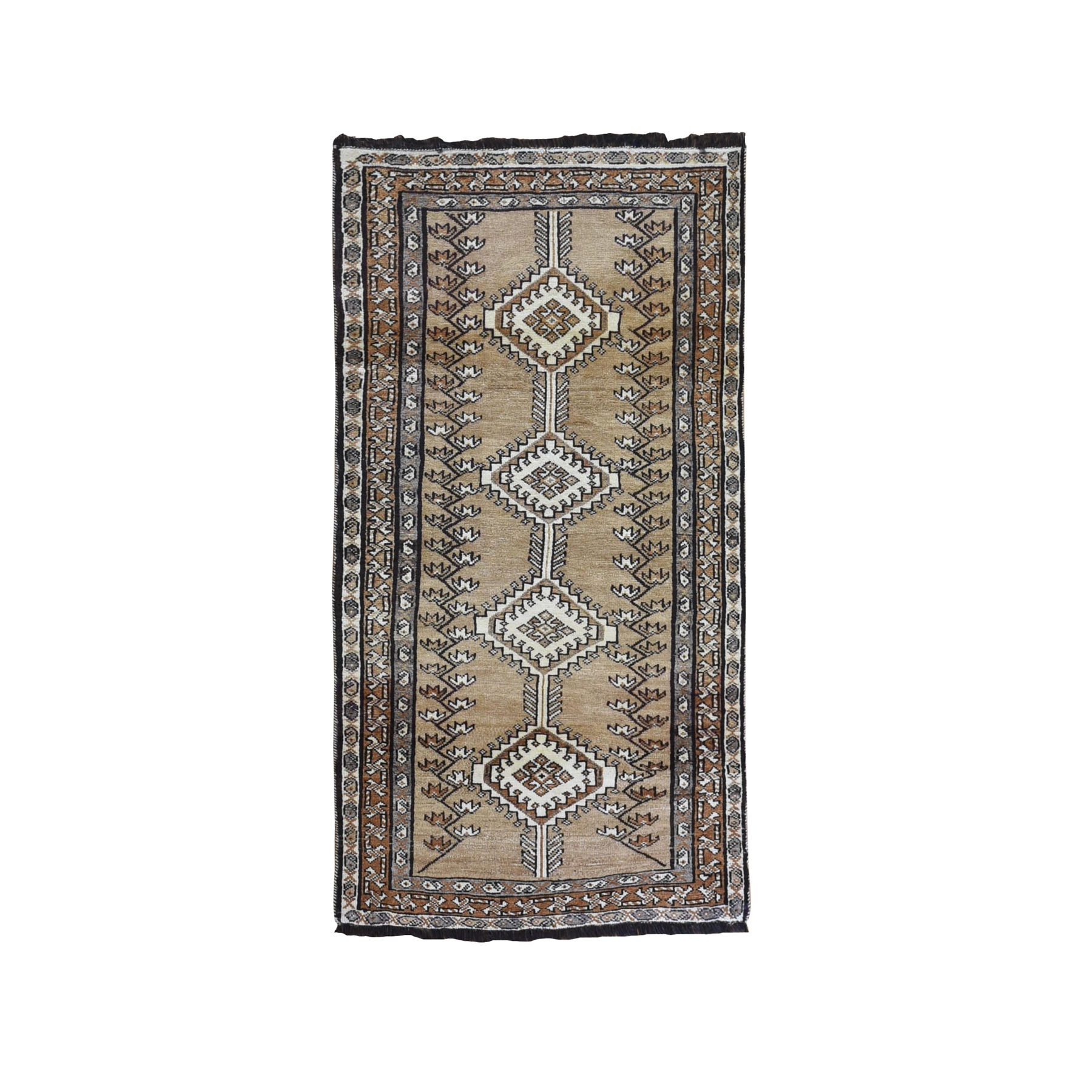 Classic Persian Collection Hand Knotted Brown Rug No: 1132036
