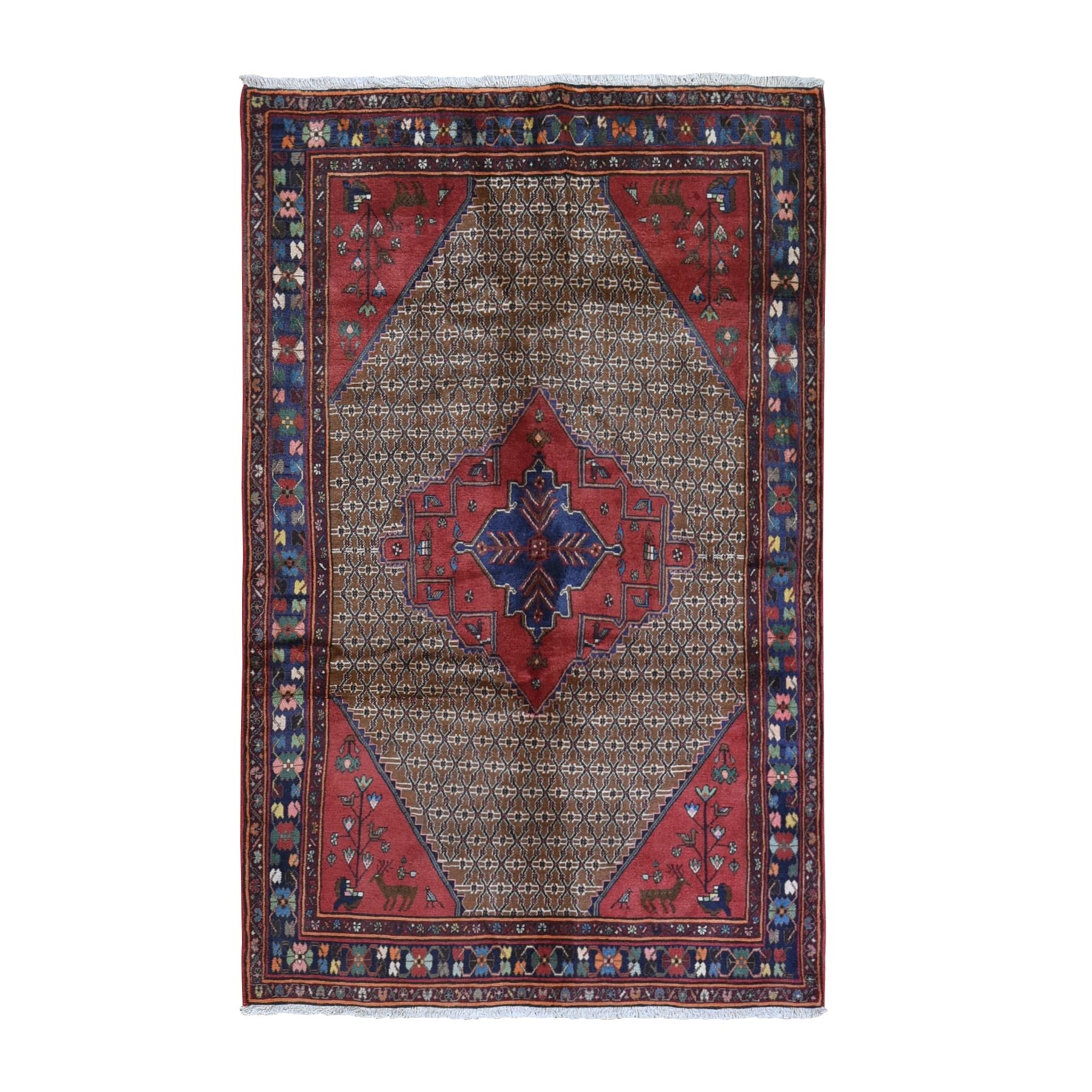 Classic Persian Collection Hand Knotted Brown Rug No: 1132056