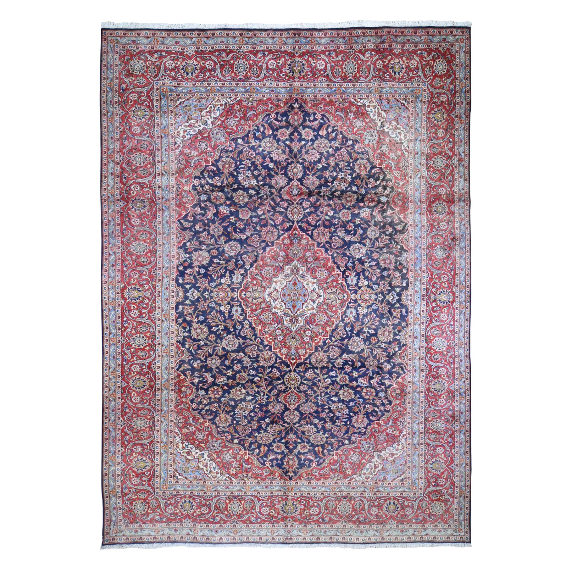 Classic Persian Collection Hand Knotted Blue Rug No: 1132060
