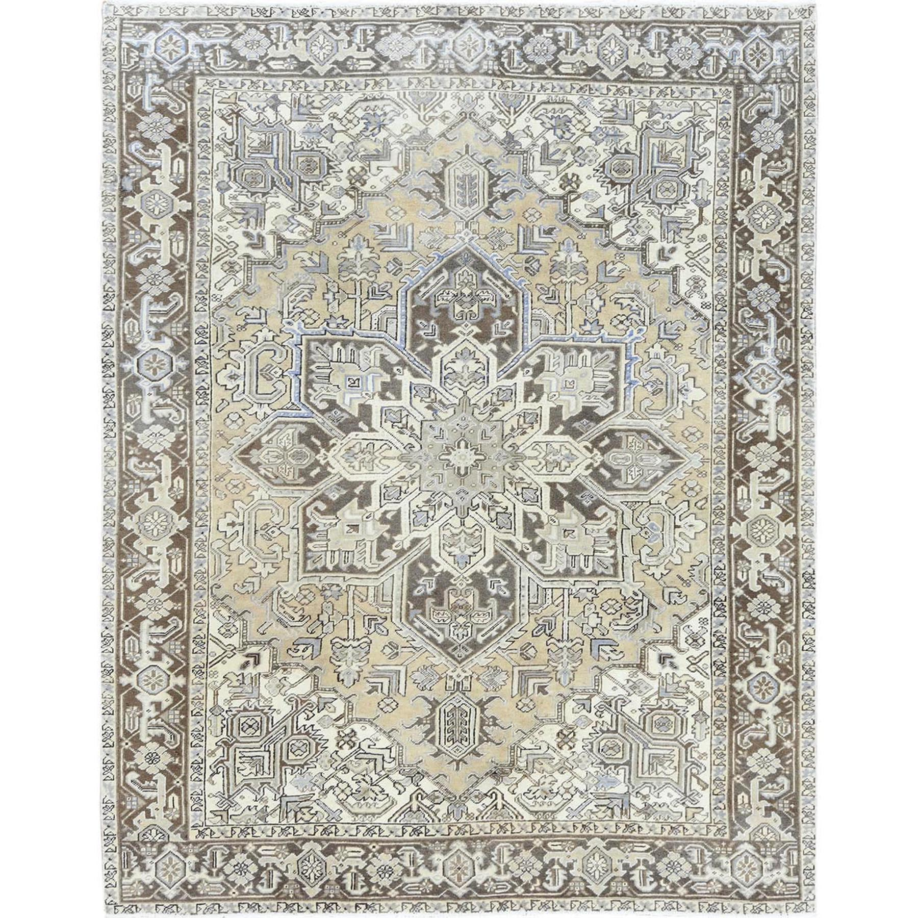 Serapi Heriz and Bakhshayesh Collection Hand Knotted Beige Rug No: 1120342