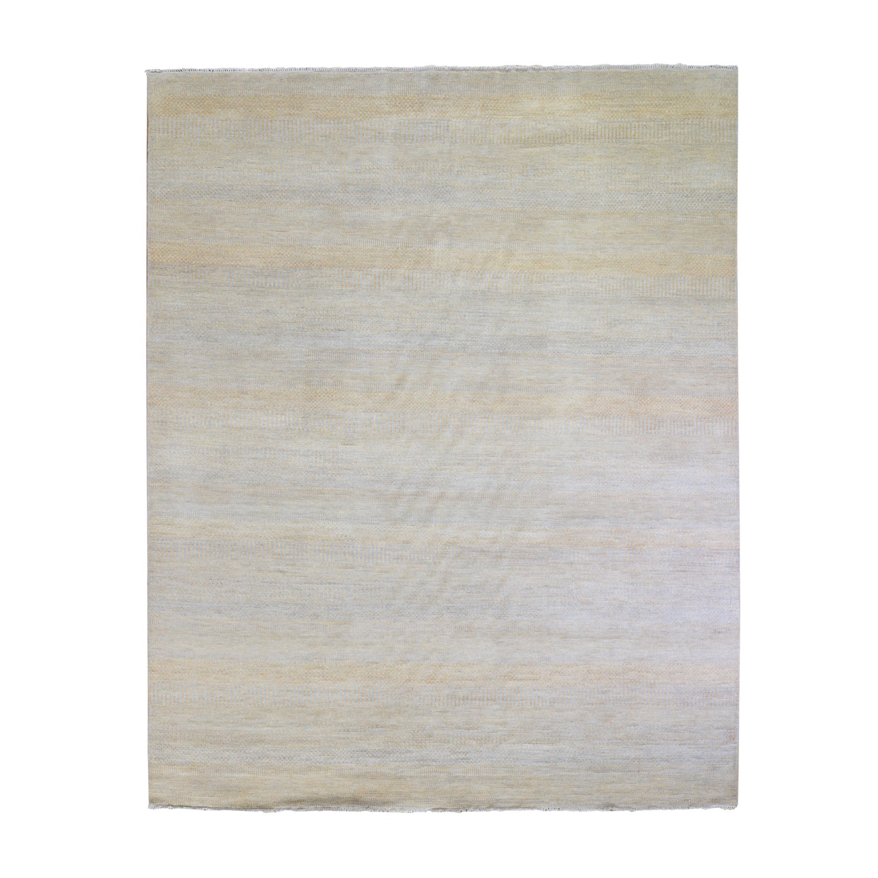 Mid Century Modern Collection Hand Knotted Yellow Rug No: 1132112