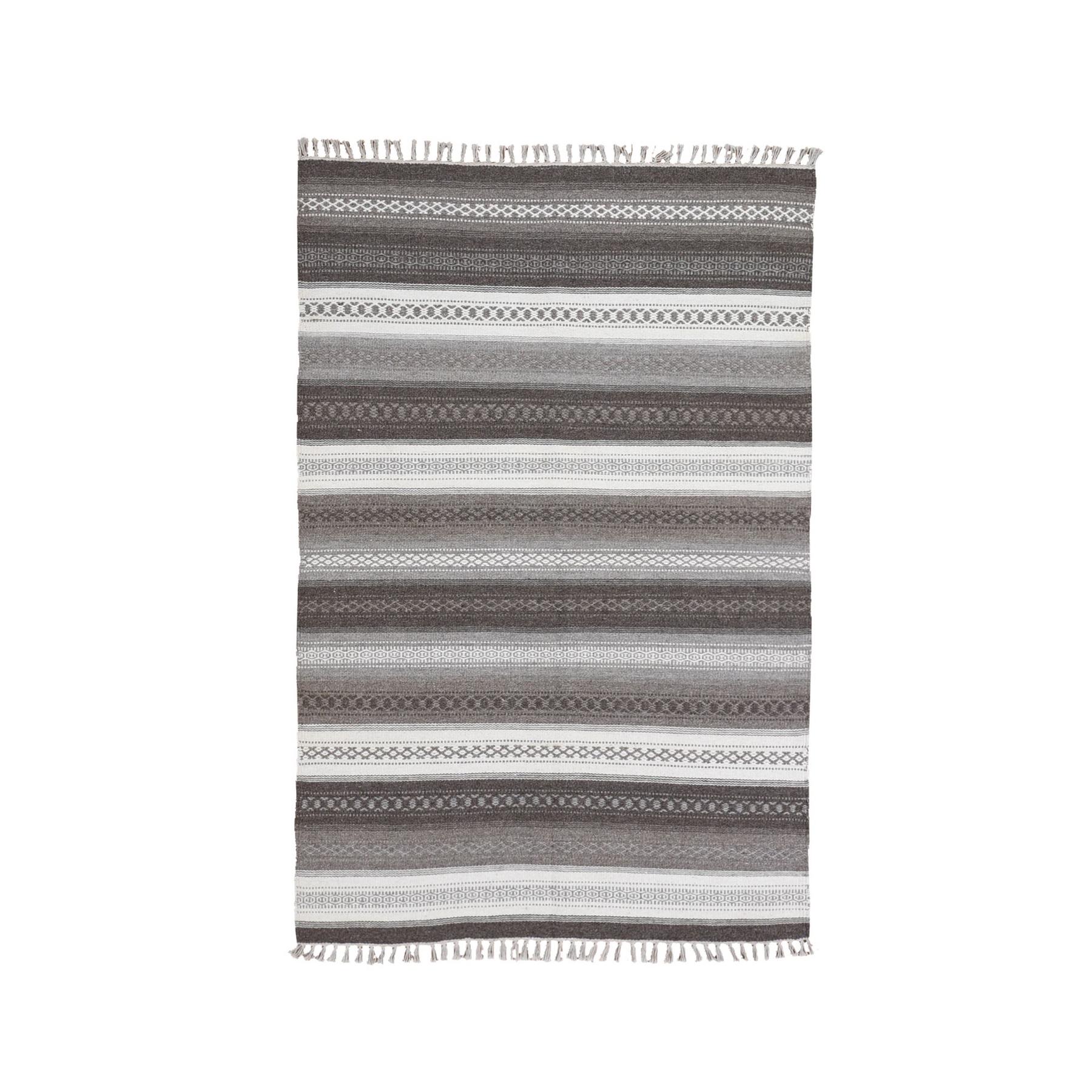 Fine Kilim Collection Hand Woven Grey Rug No: 1132146