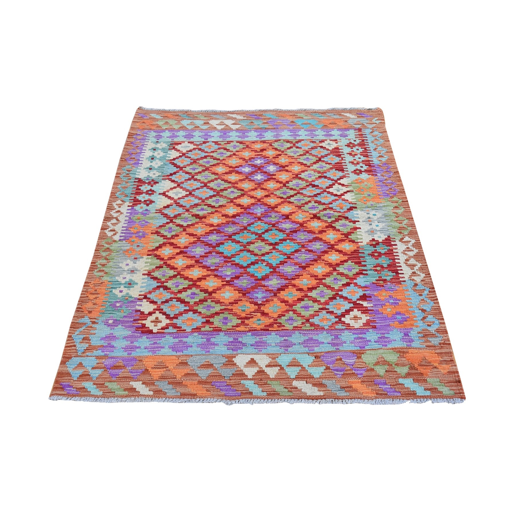 Fine Kilim Collection Hand Woven Red Rug No: 1132152