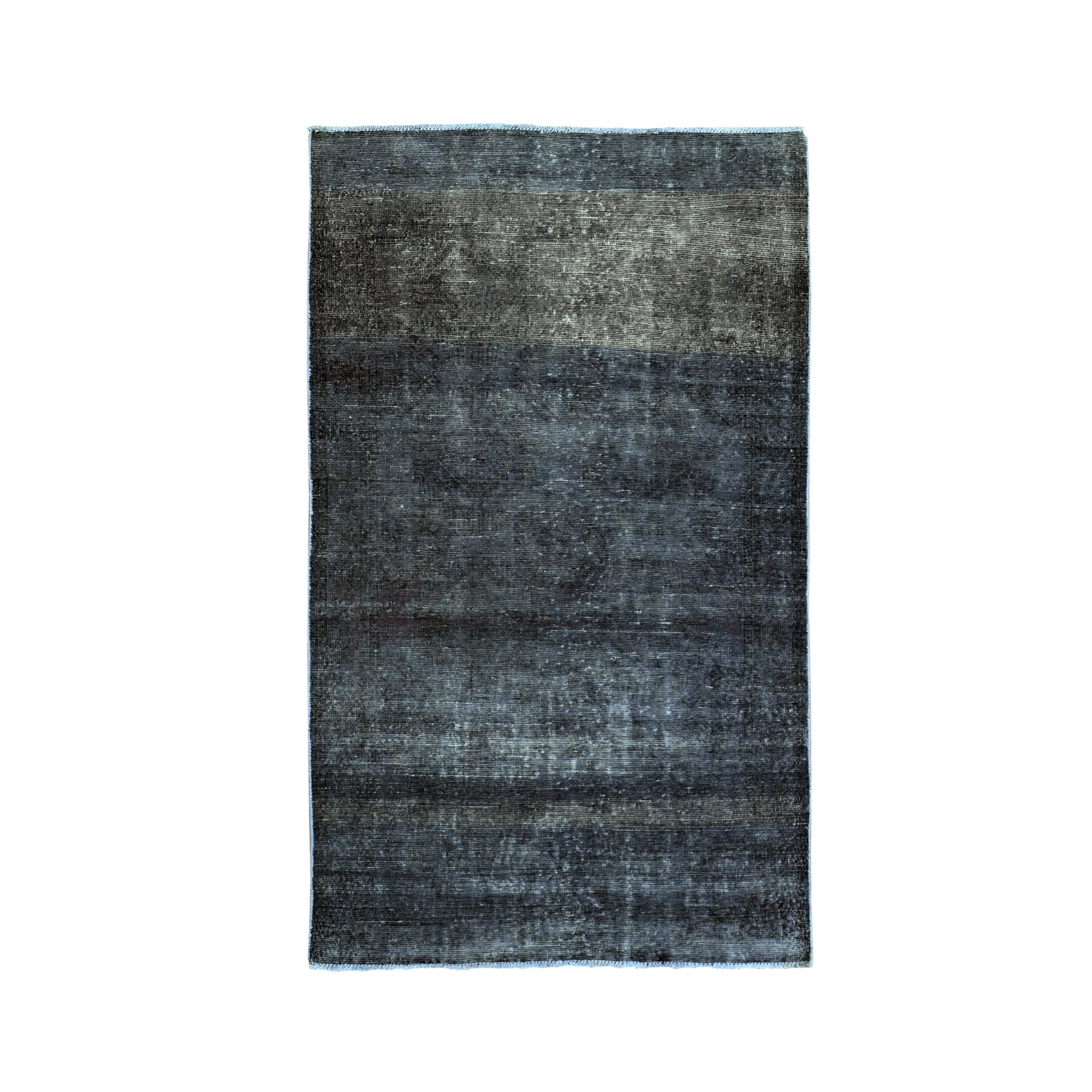 Fetneh Collection And Vintage Overdyed Collection Hand Knotted Grey Rug No: 1132136