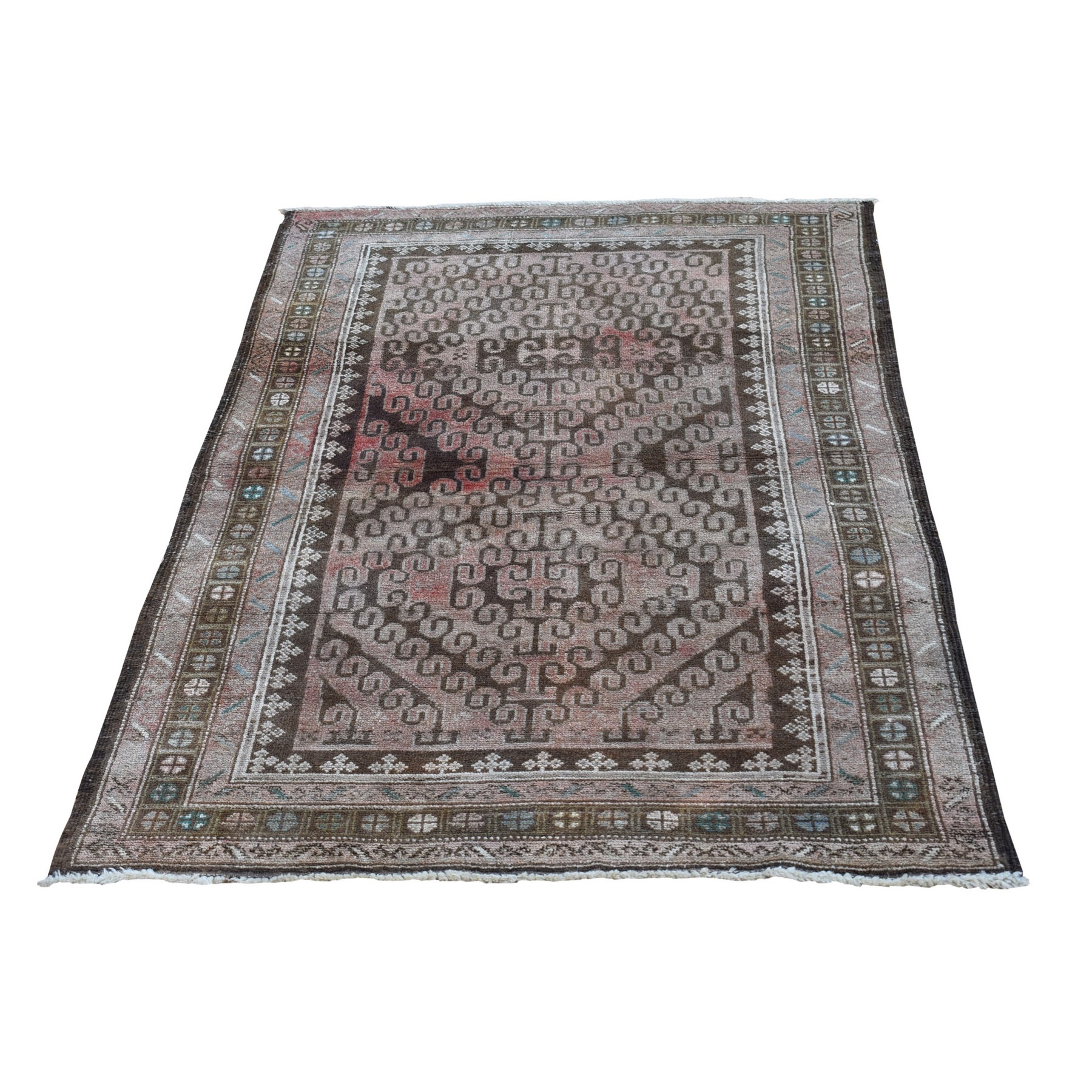 Nomadic And Village Collection Hand Knotted Brown Rug No: 1132138