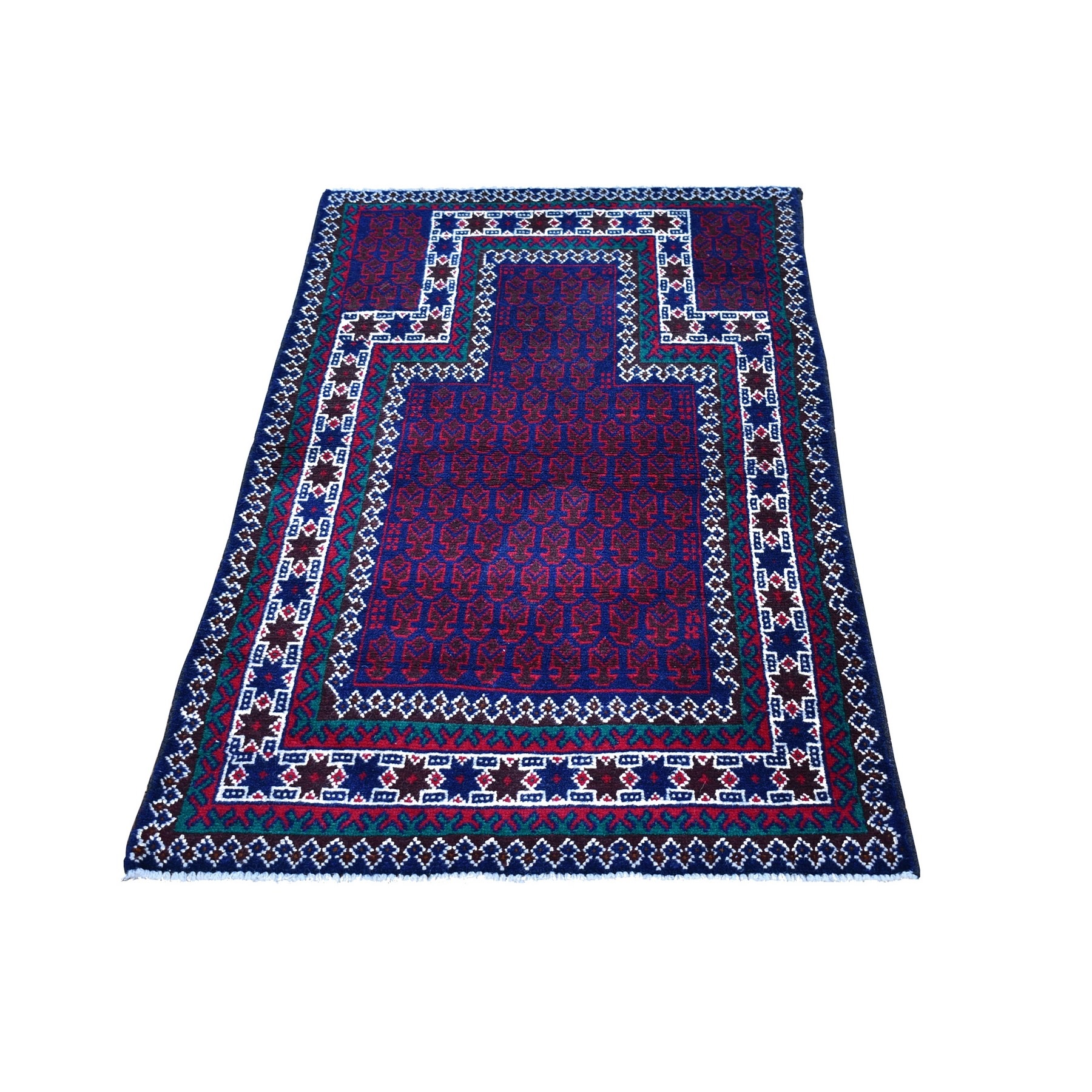 Nomadic And Village Collection Hand Knotted Blue Rug No: 1132140
