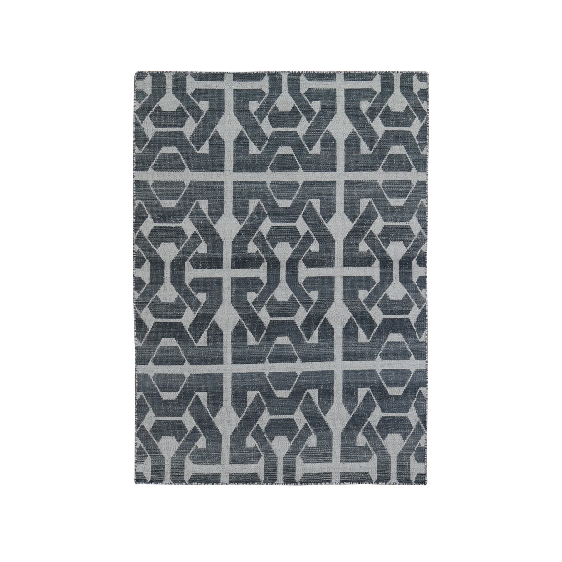 Fine Kilim Collection Hand Woven Grey Rug No: 1132180