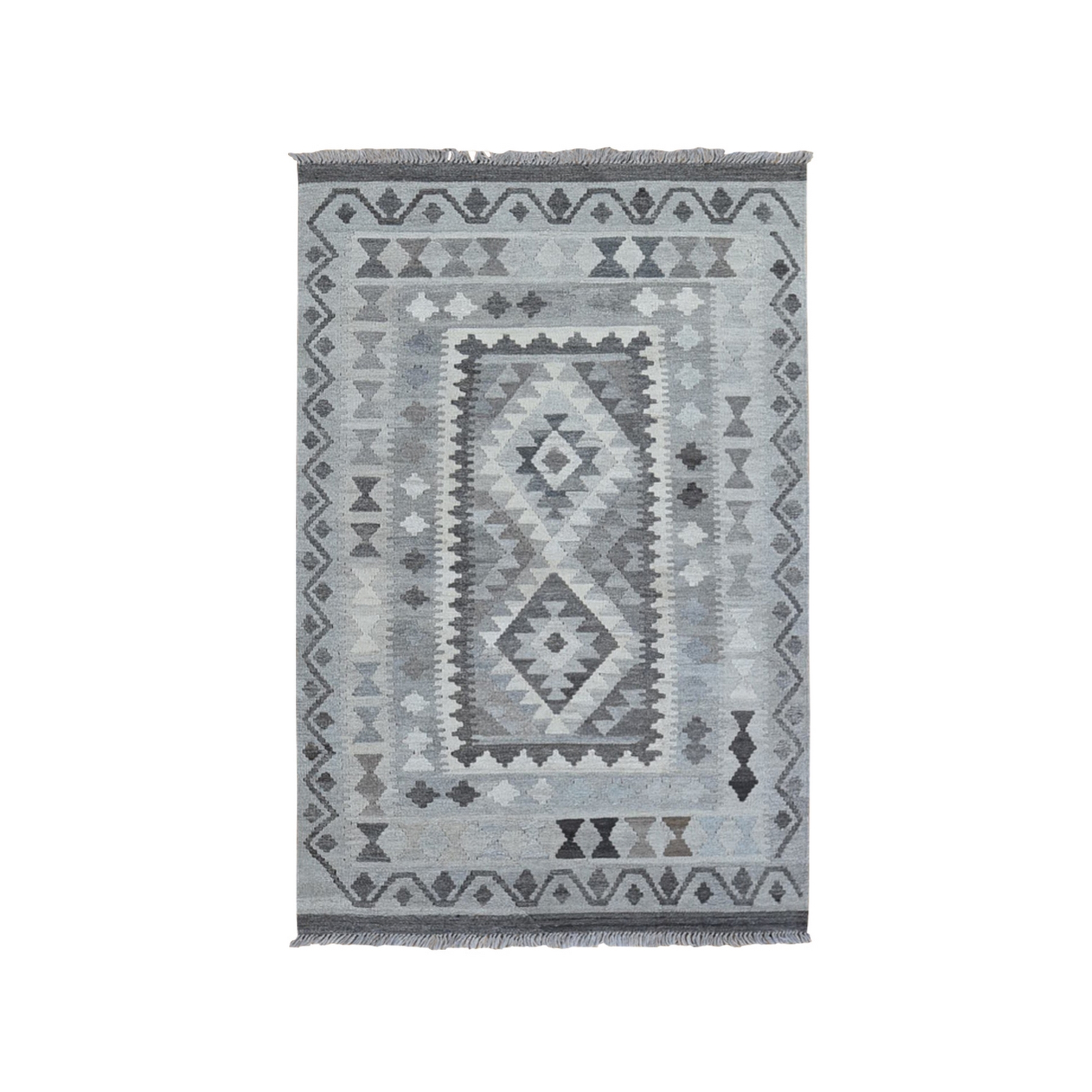 Fine Kilim Collection Hand Woven Grey Rug No: 1132182