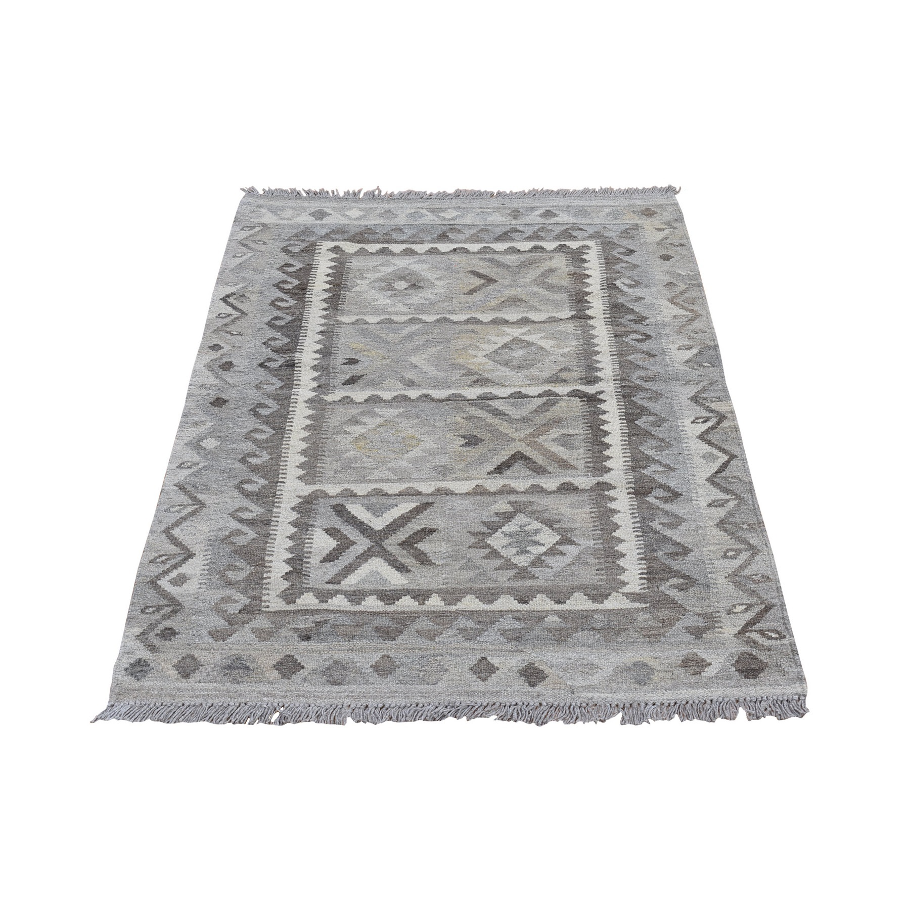 Fine Kilim Collection Hand Woven Grey Rug No: 1132184