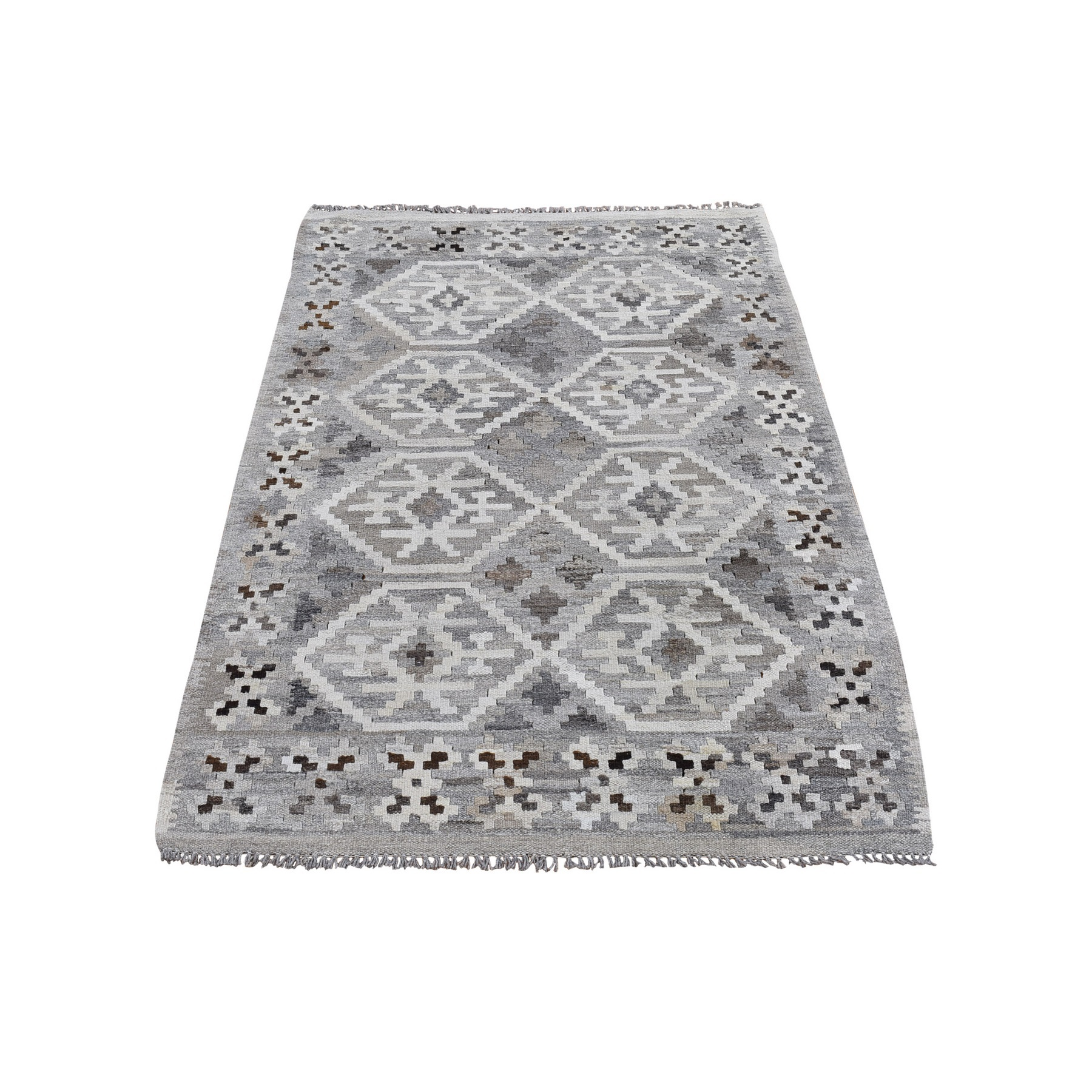 Fine Kilim Collection Hand Woven Grey Rug No: 1132186