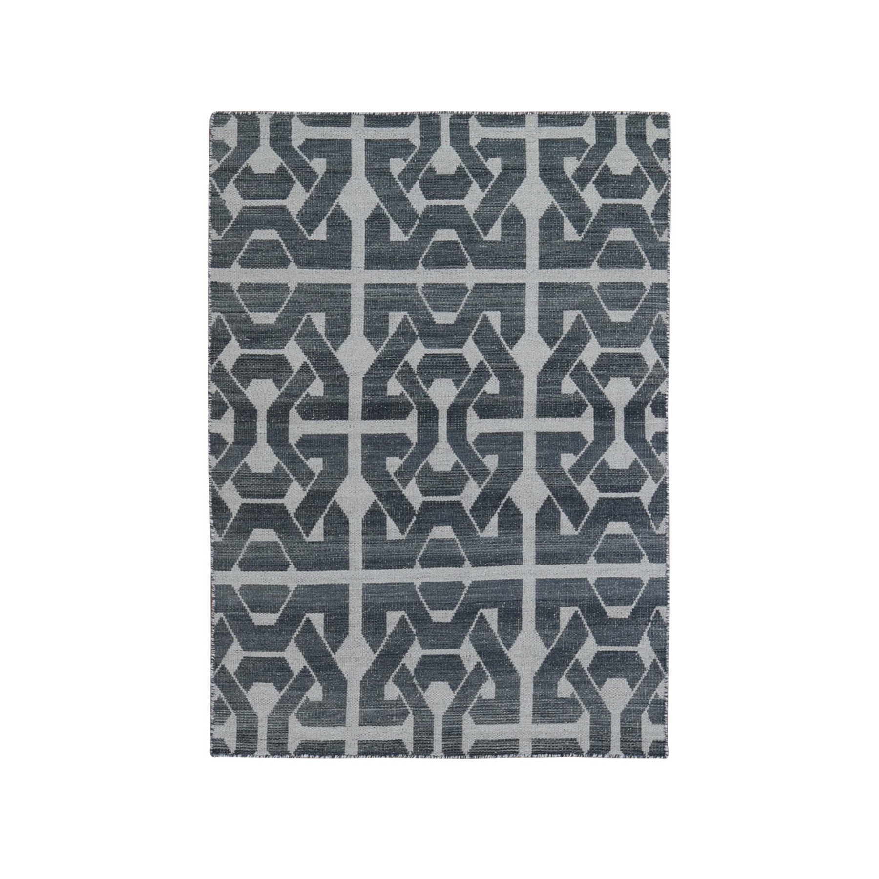 Fine Kilim Collection Hand Woven Grey Rug No: 1132194