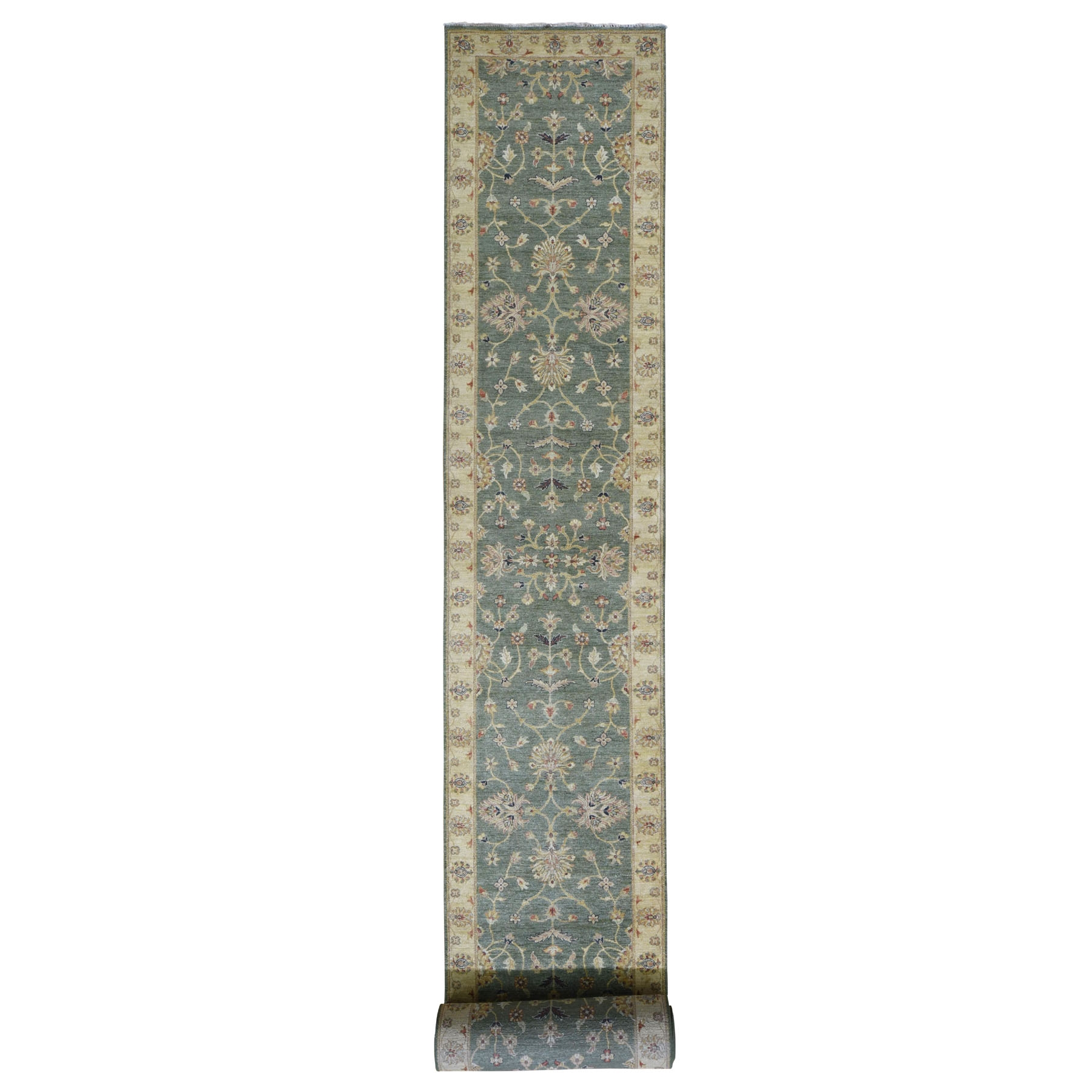 Agra And Turkish Collection Hand Knotted Green Rug No: 196606