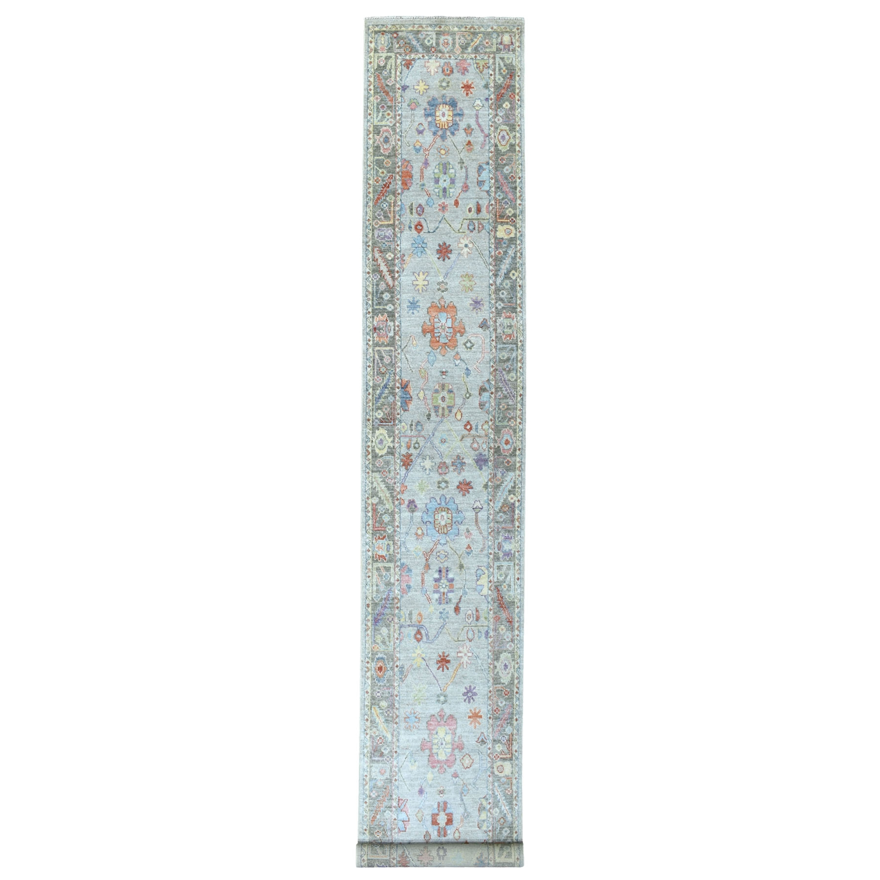 Agra And Turkish Collection Hand Knotted Grey Rug No: 1112230