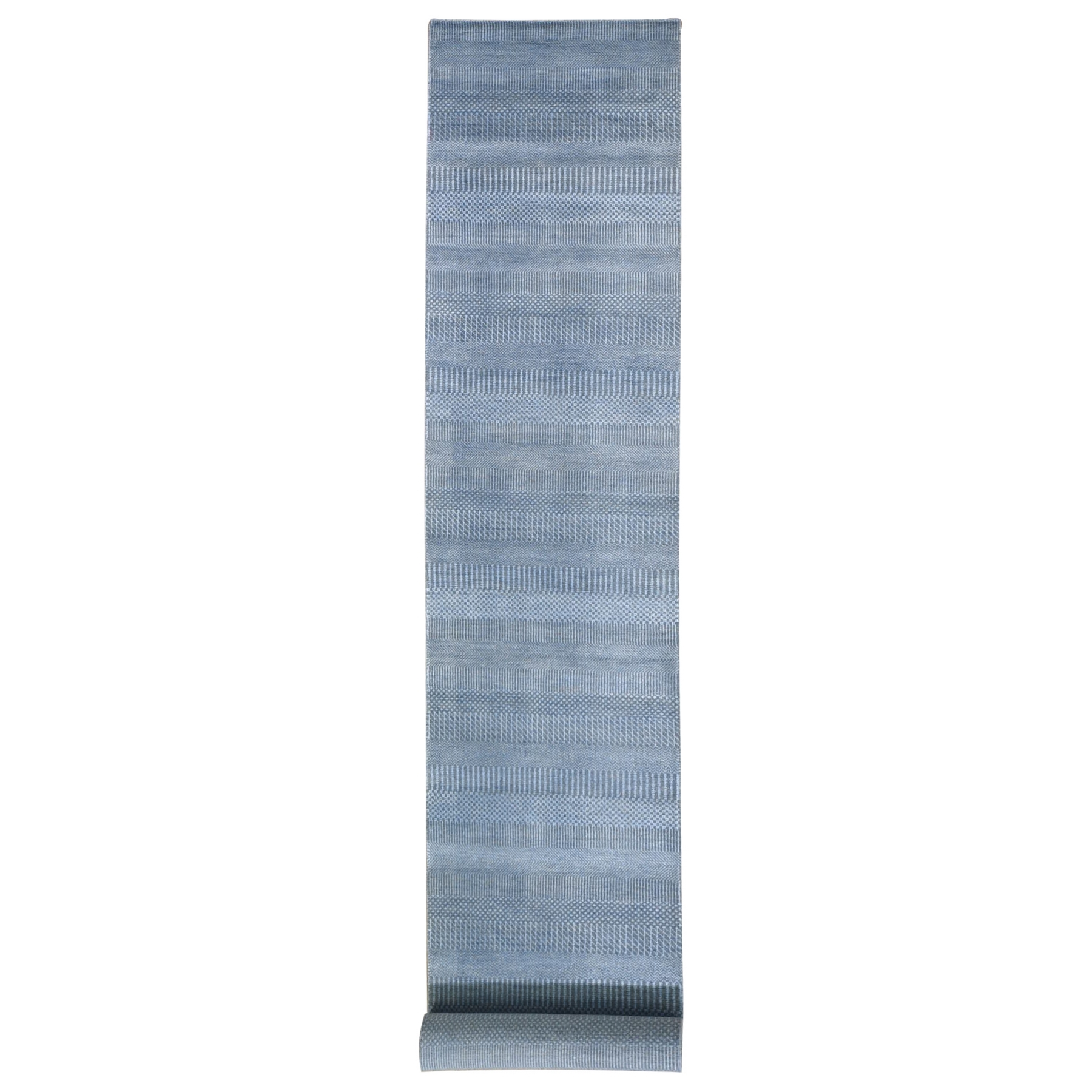 Mid Century Modern Collection Hand Knotted Grey Rug No: 1132390