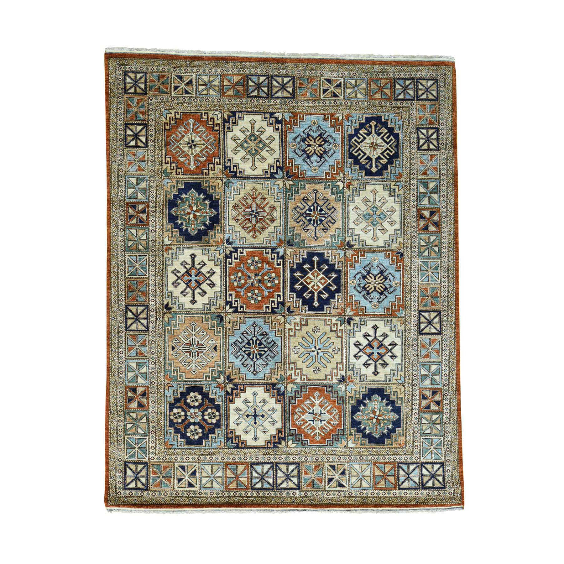 Nomadic And Village Collection Hand Knotted Multicolored Rug No: 0169374