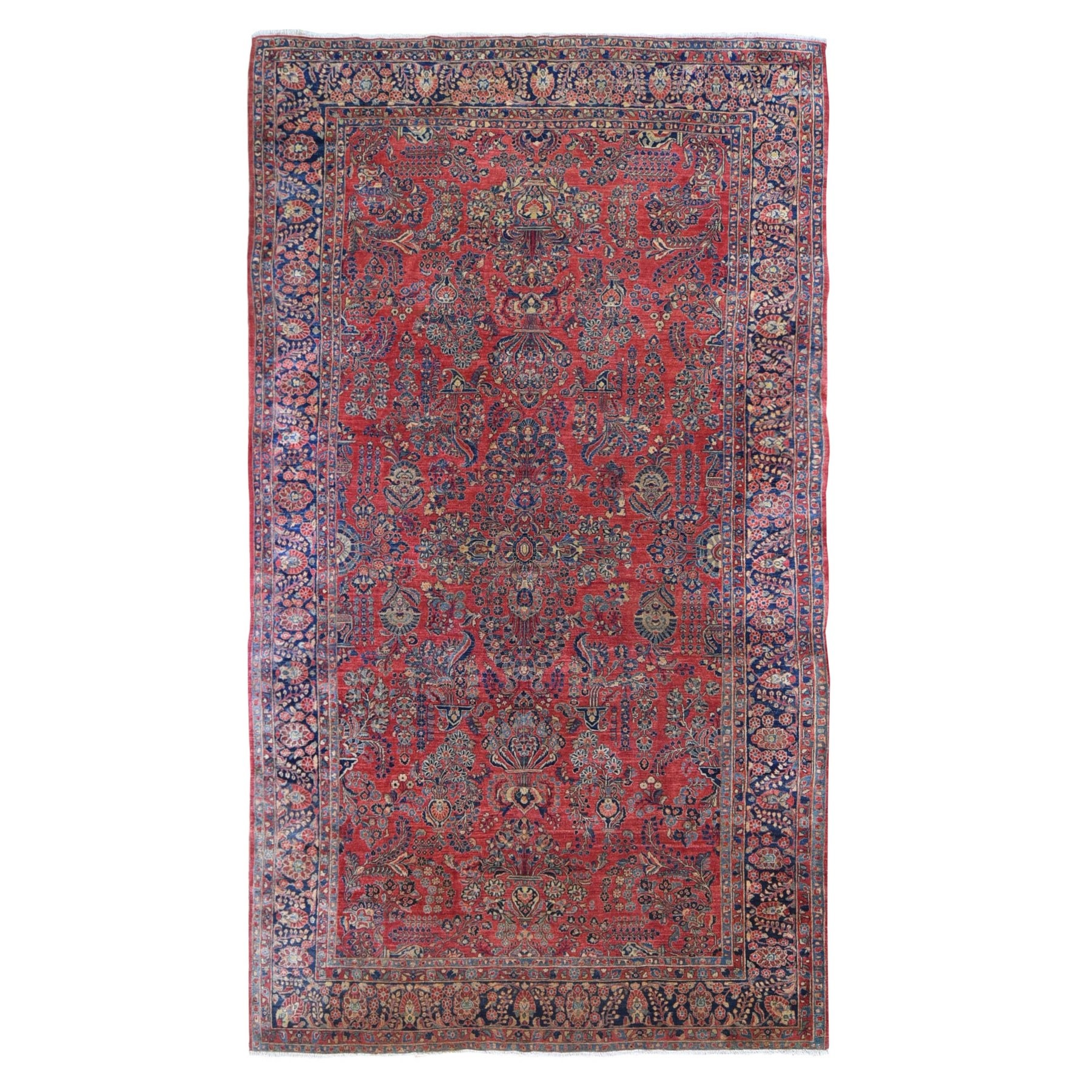 Antique Collection Hand Knotted Red Rug No: 1132584