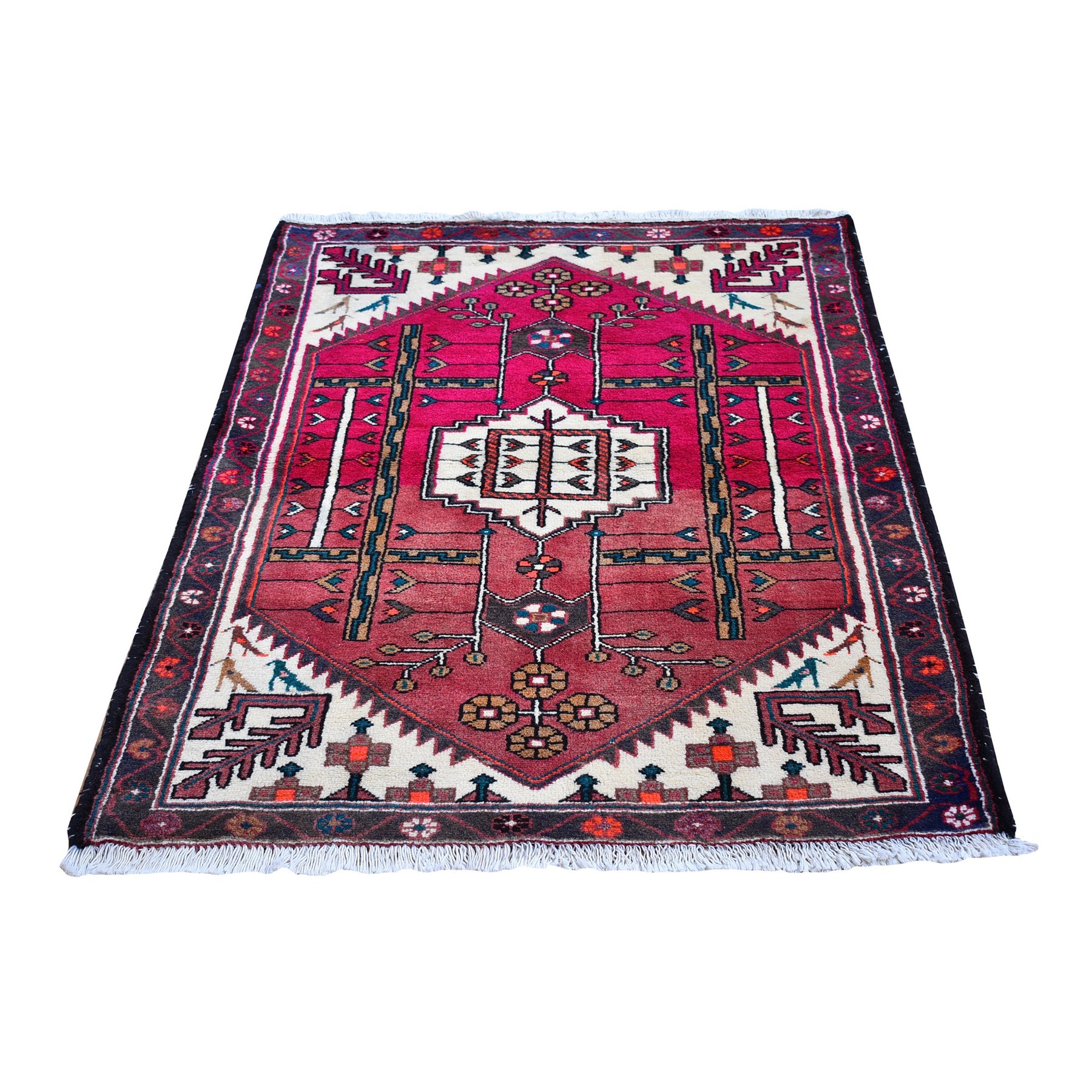 Classic Persian Collection Hand Knotted Pink Rug No: 1132660