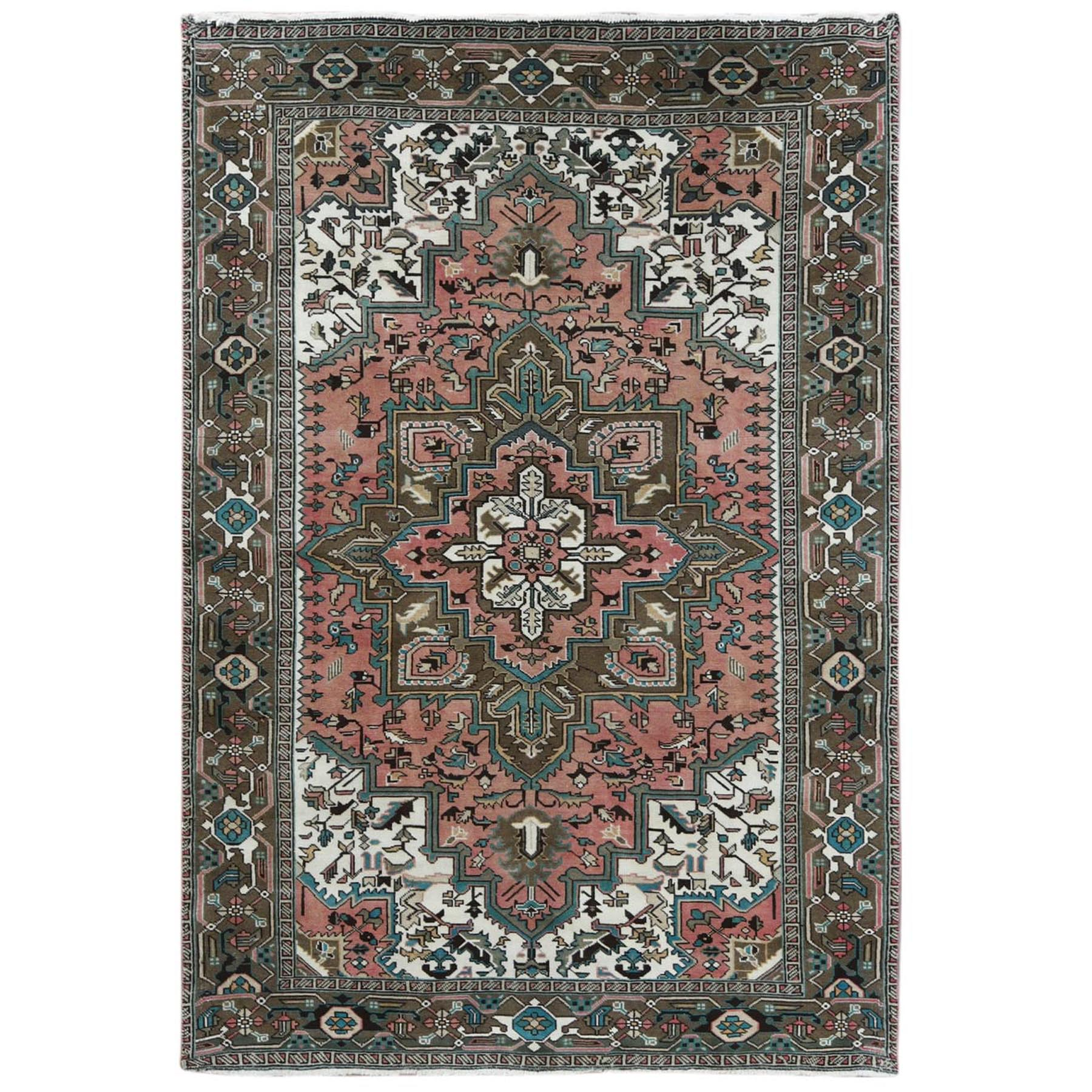 Serapi Heriz and Bakhshayesh Collection Hand Knotted Pink Rug No: 1120760