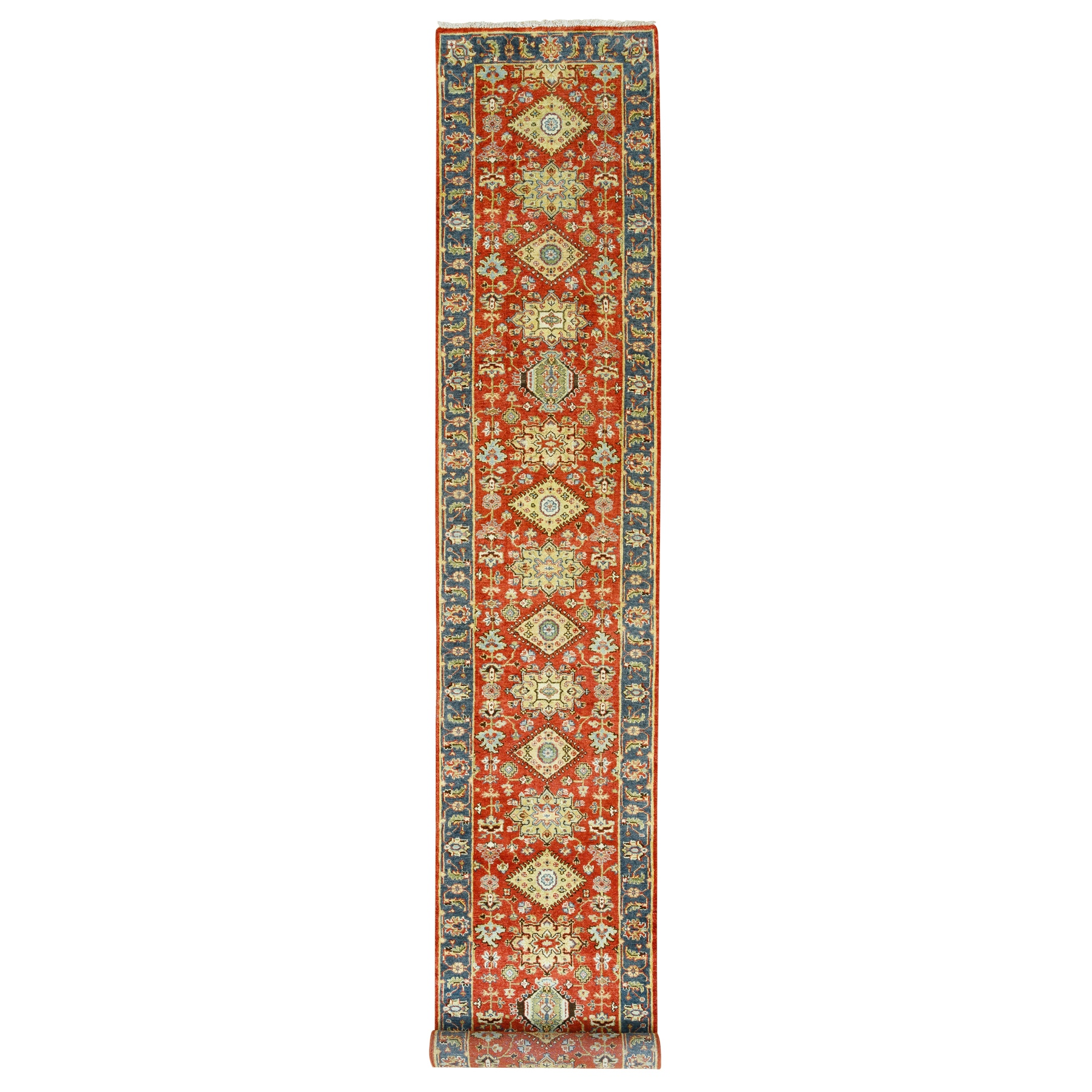 Serapi Heriz and Bakhshayesh Collection Hand Knotted Red Rug No: 1124330