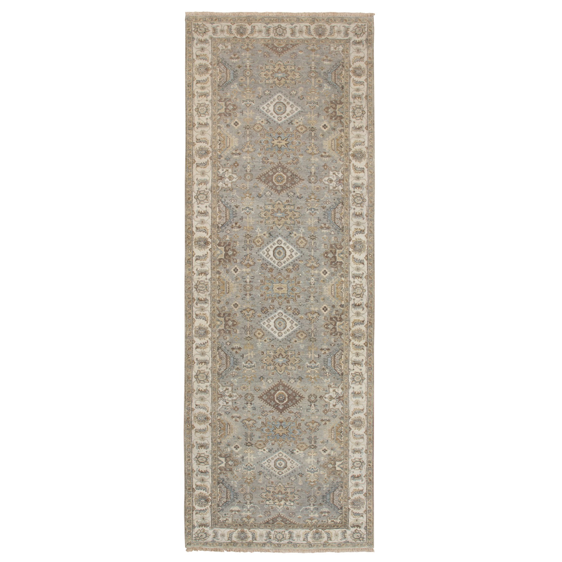 Serapi Heriz and Bakhshayesh Collection Hand Knotted Grey Rug No: 1124210