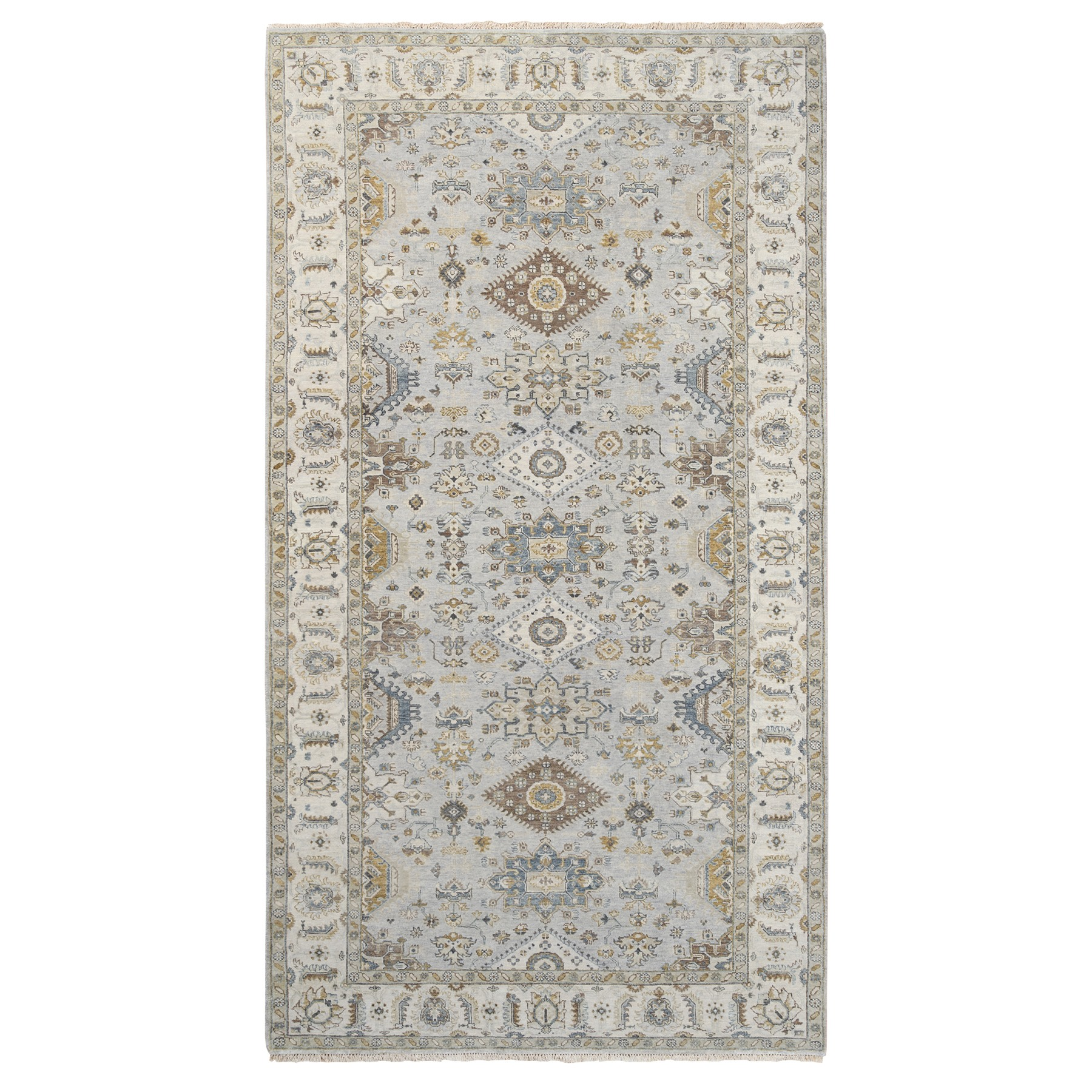 Serapi Heriz and Bakhshayesh Collection Hand Knotted Grey Rug No: 1124272