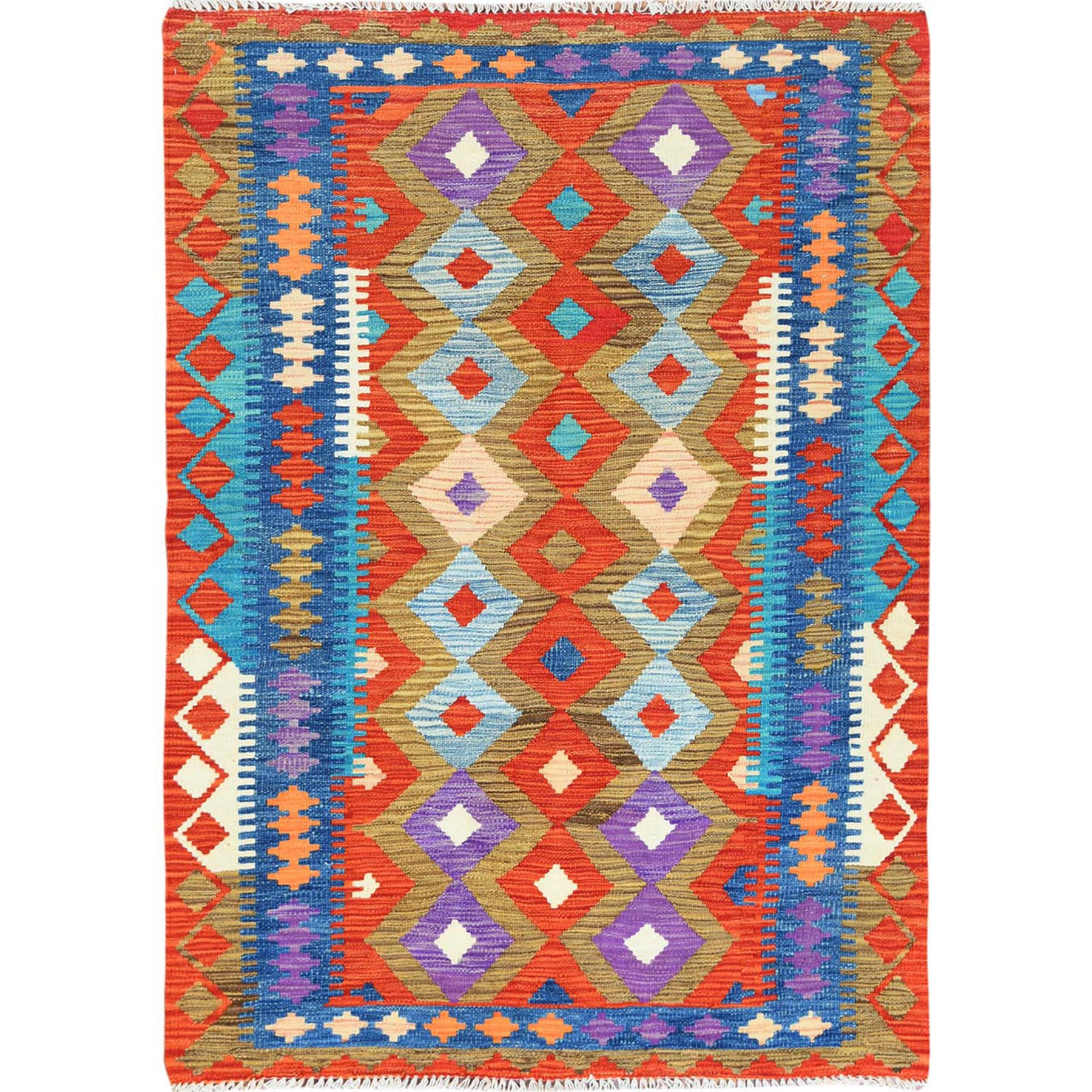 Fine Kilim Collection Hand Woven Red Rug No: 1121278