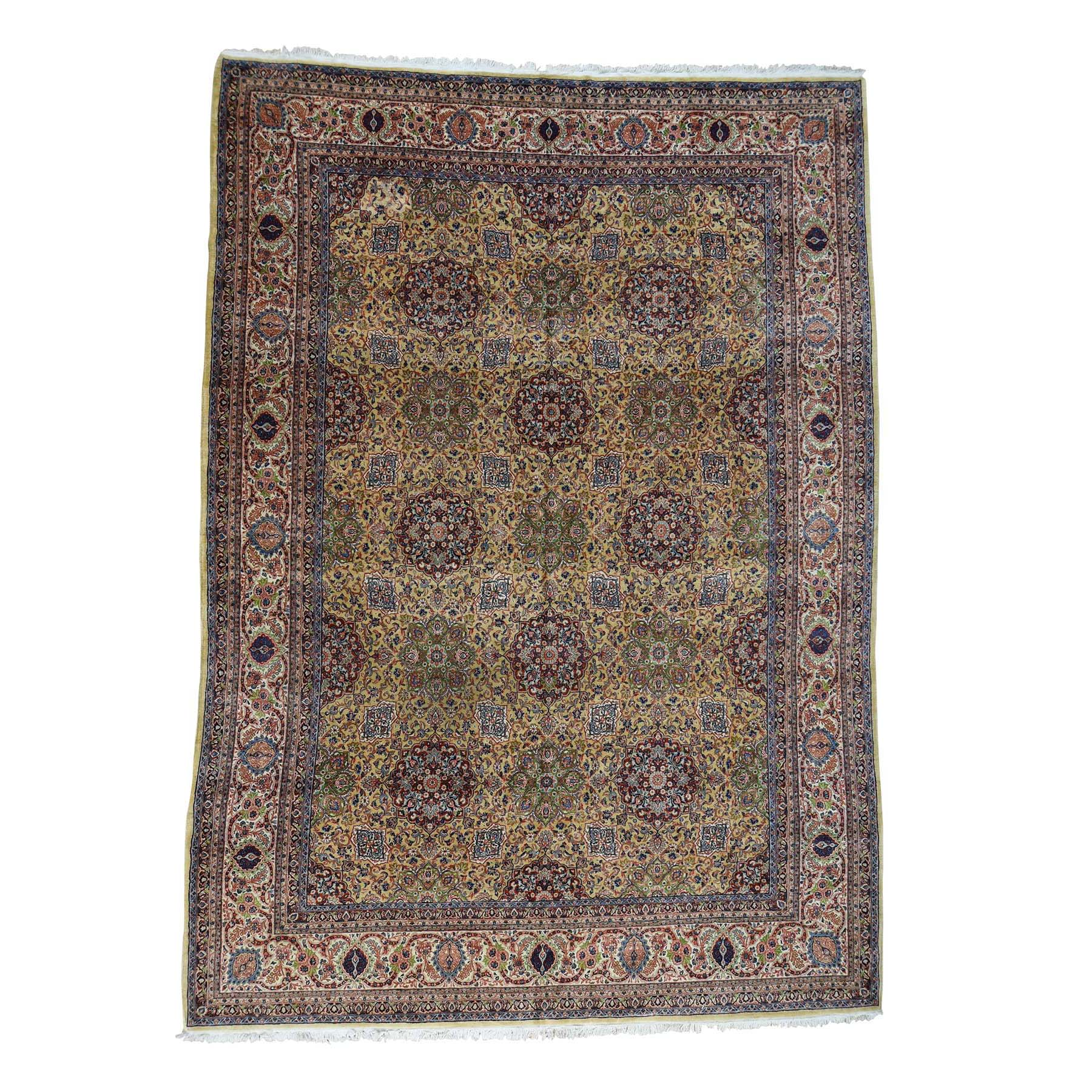 Antique Collection Hand Knotted Yellow Rug No: 0176678