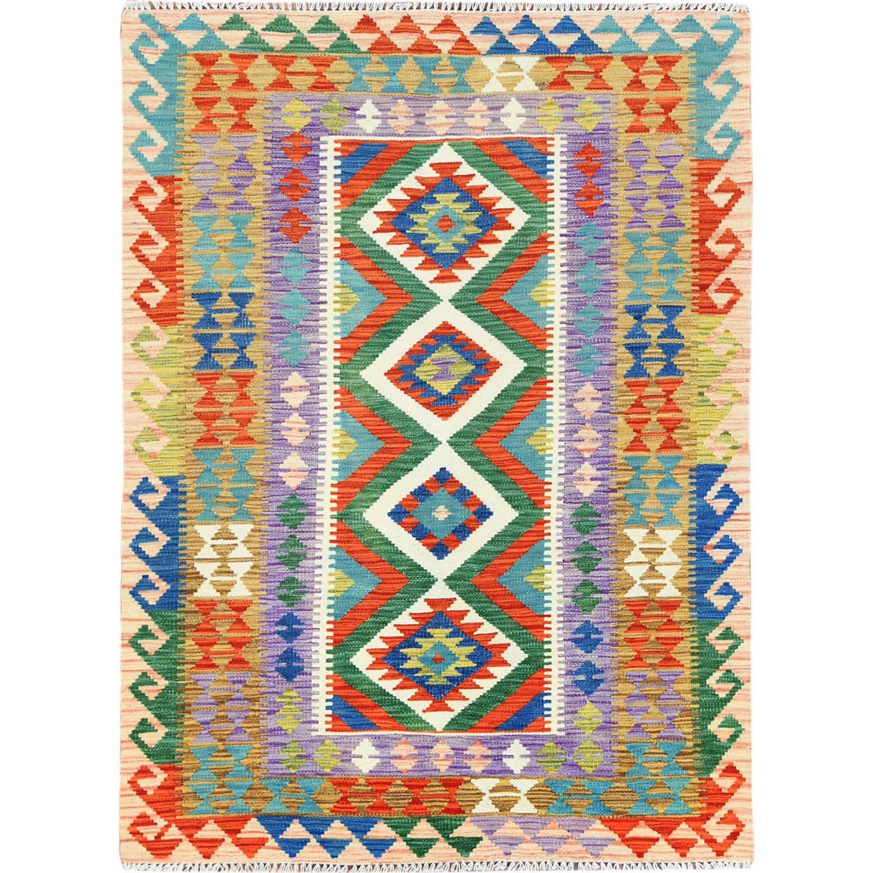 Fine Kilim Collection Hand Woven Red Rug No: 1121286