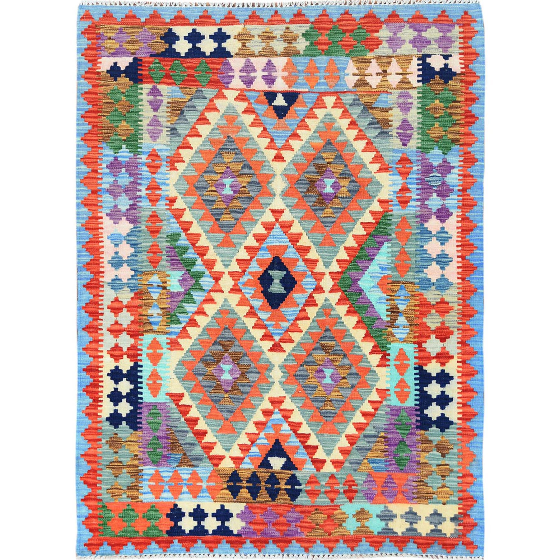 Fine Kilim Collection Hand Woven Red Rug No: 1121288