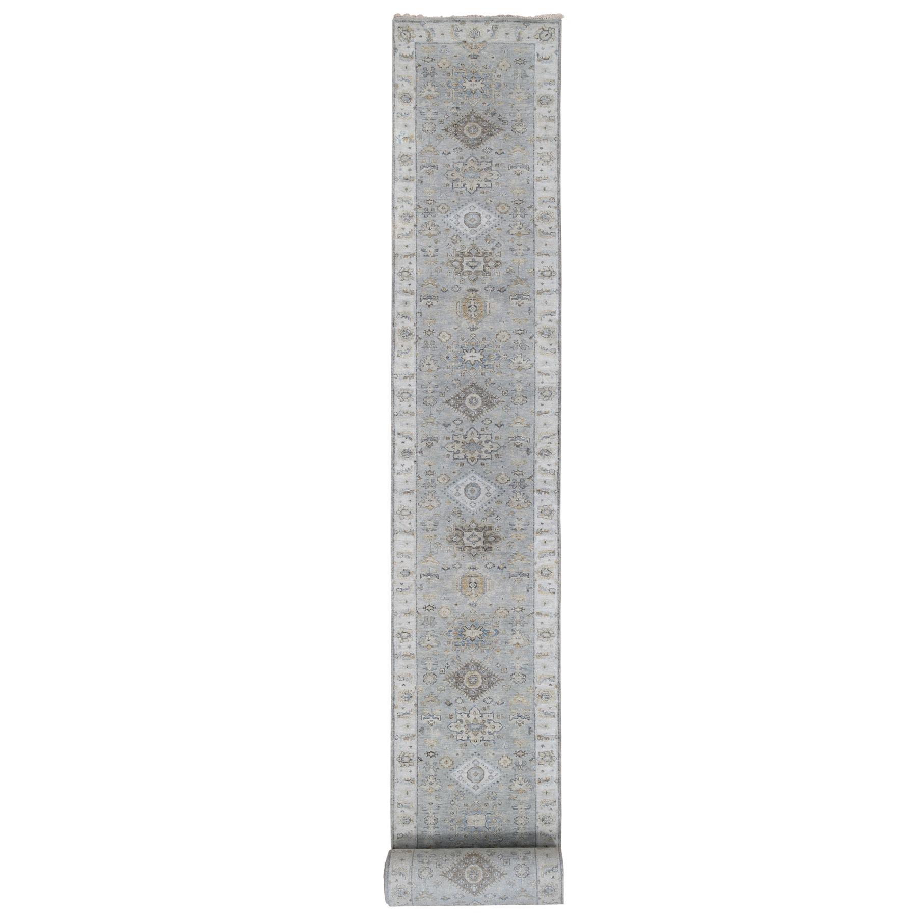 Serapi Heriz and Bakhshayesh Collection Hand Knotted Grey Rug No: 1124356