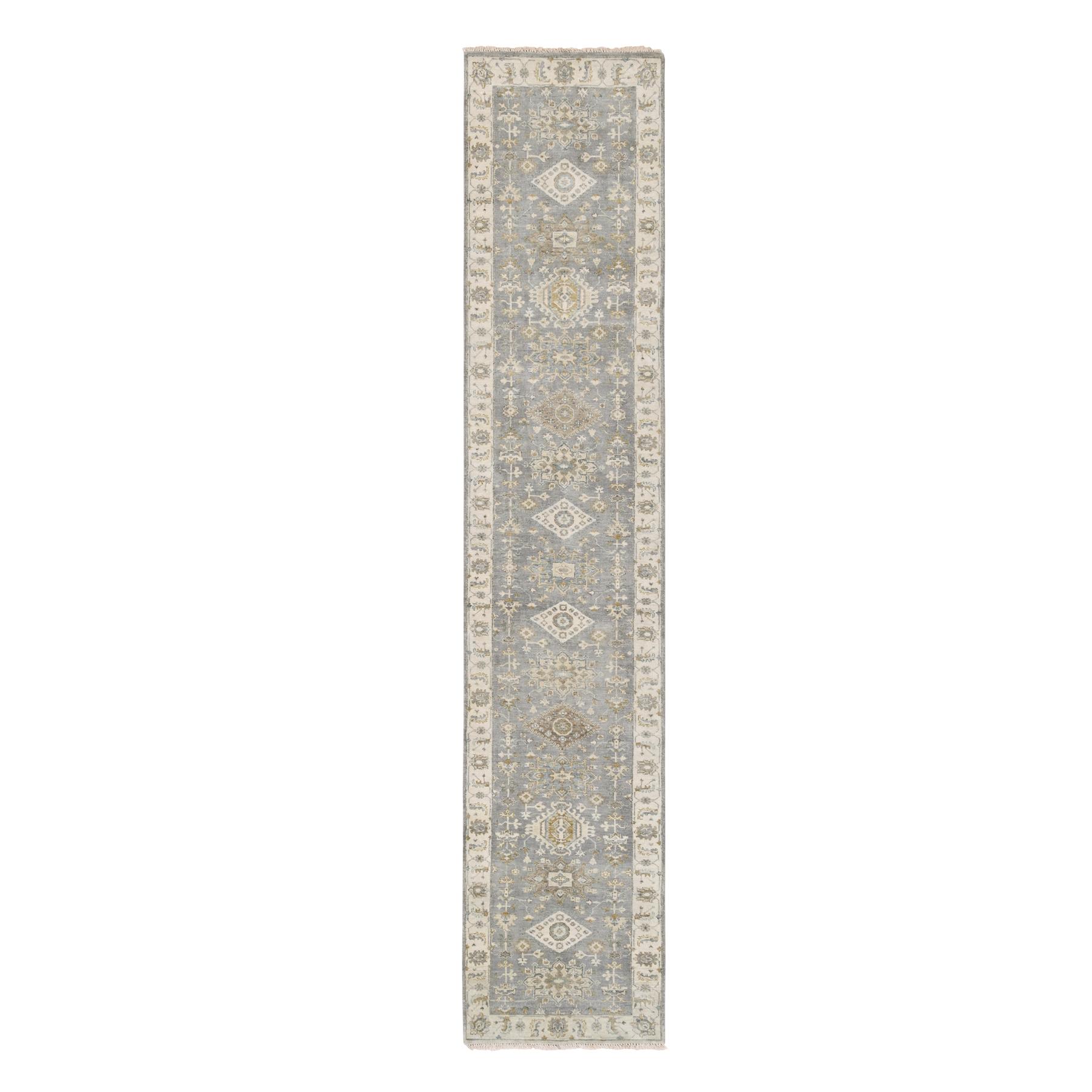 Serapi Heriz and Bakhshayesh Collection Hand Knotted Grey Rug No: 1124342