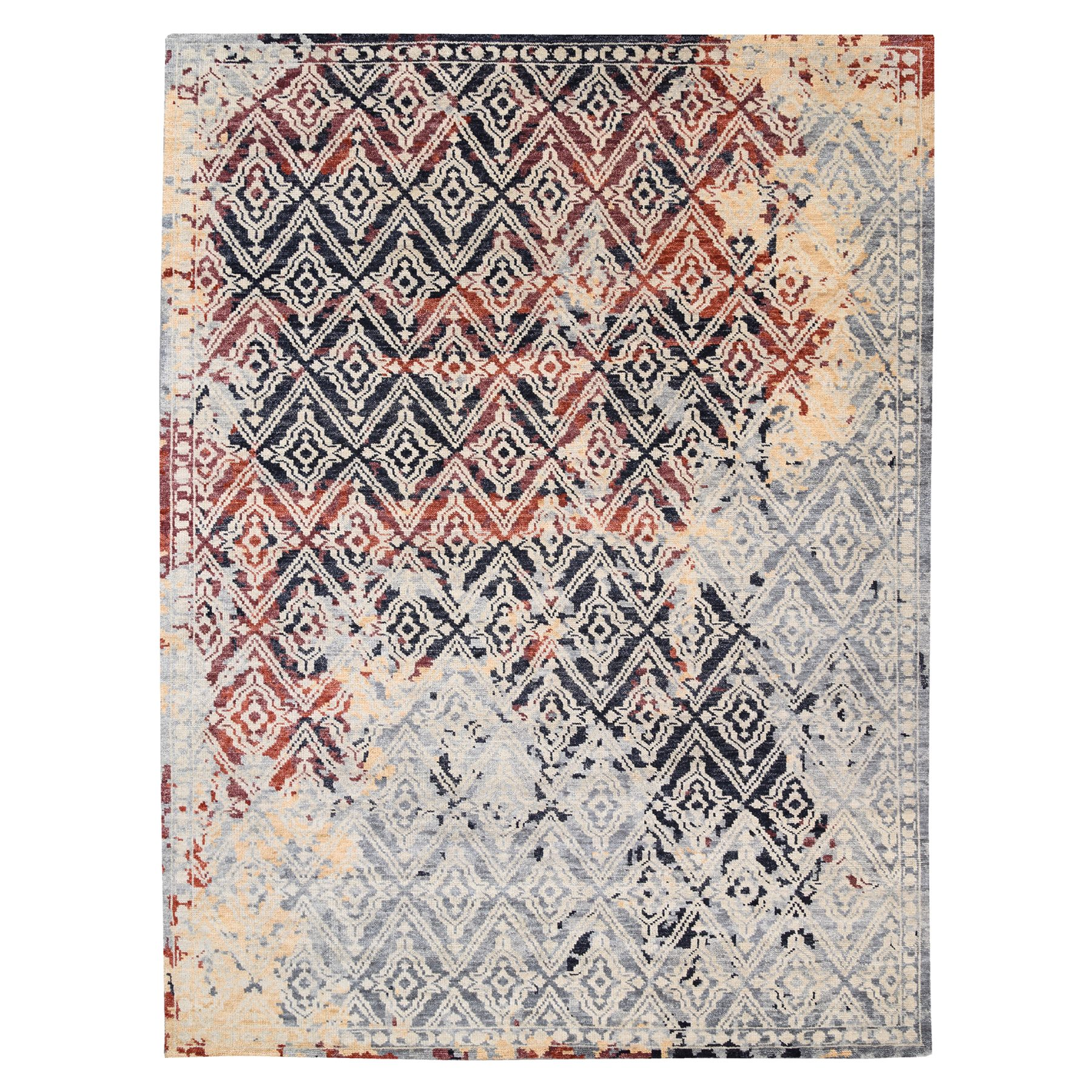 Nomadic And Village Collection Hand Knotted Grey Rug No: 1124404
