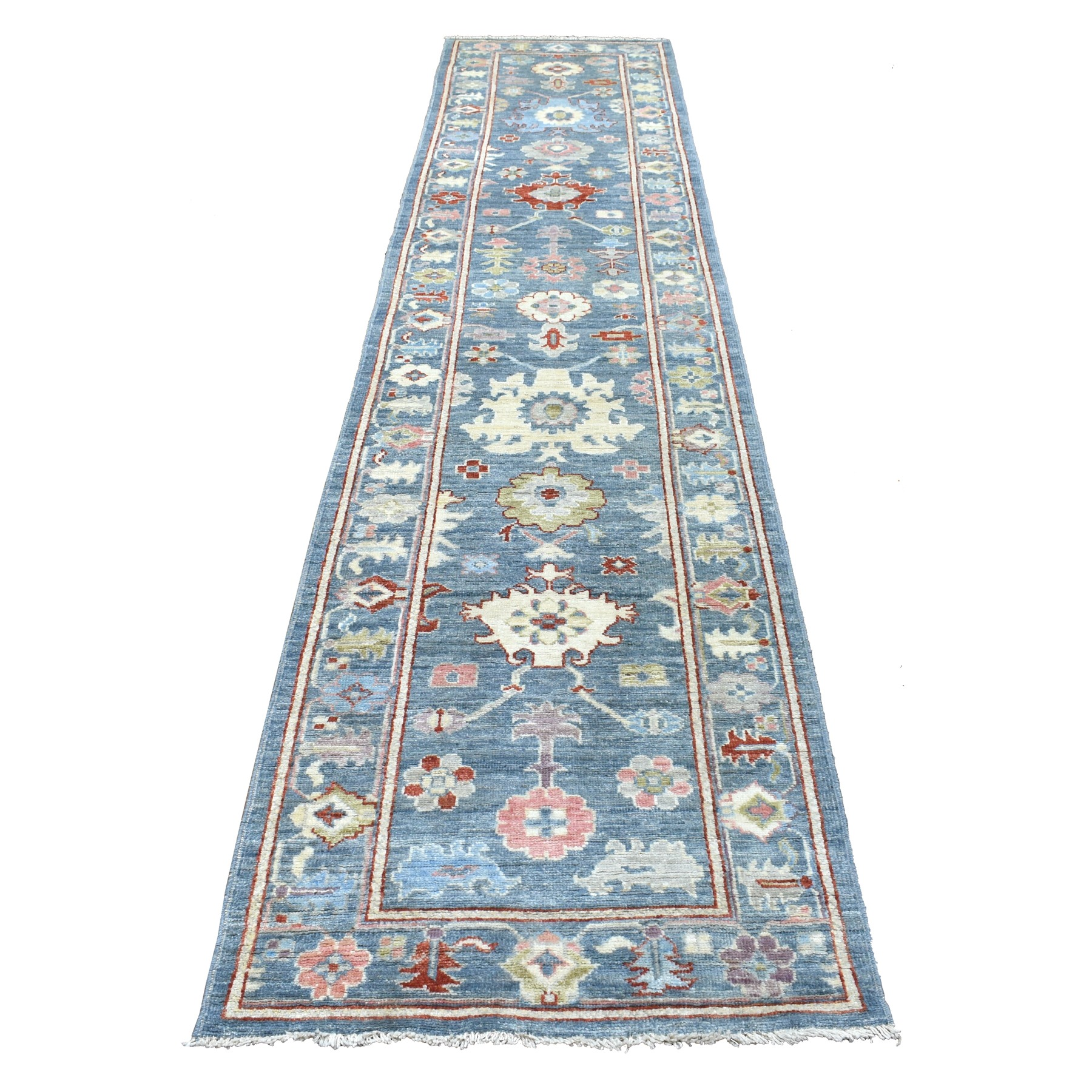 Agra And Turkish Collection Hand Knotted Blue Rug No: 1112596