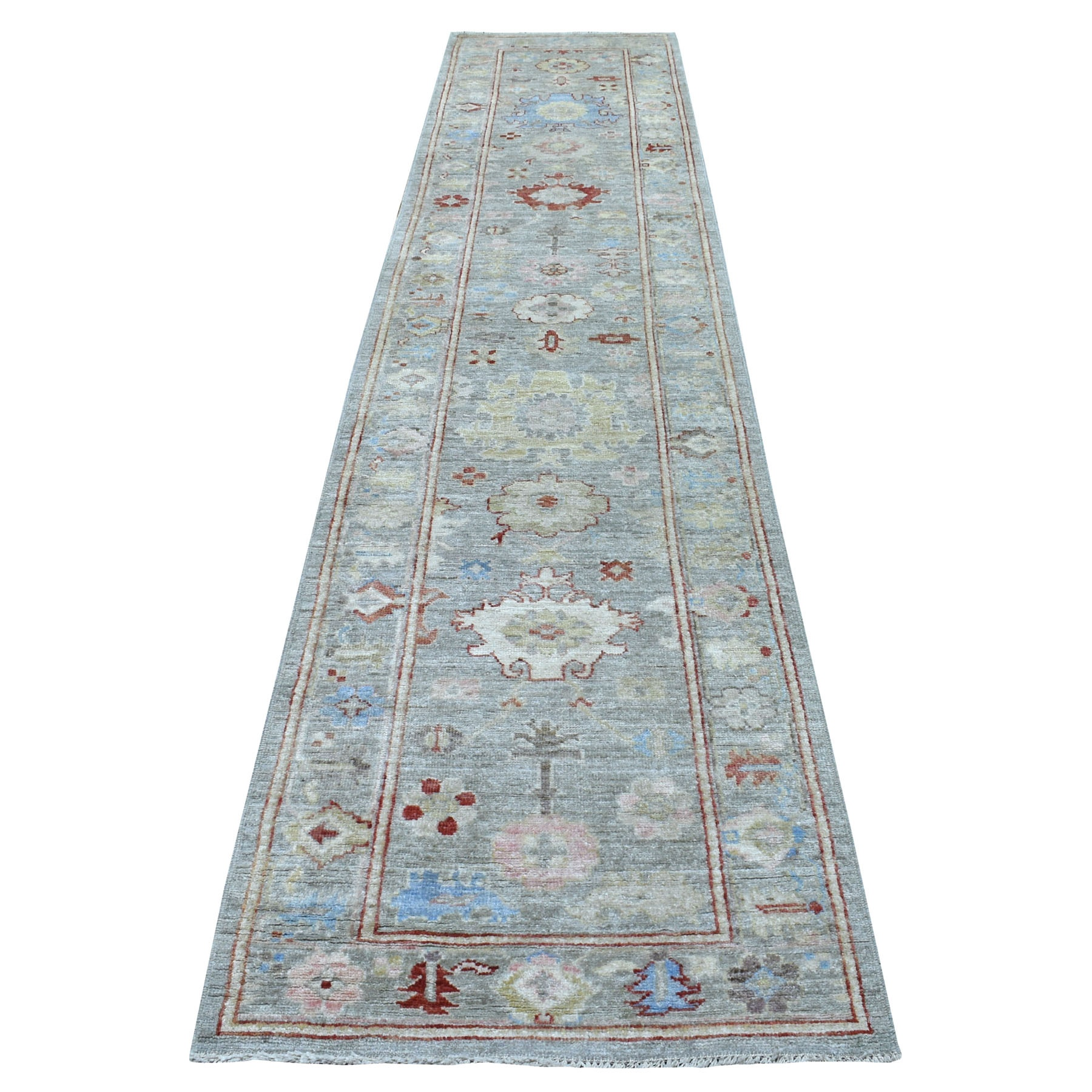 Agra And Turkish Collection Hand Knotted Grey Rug No: 1112686