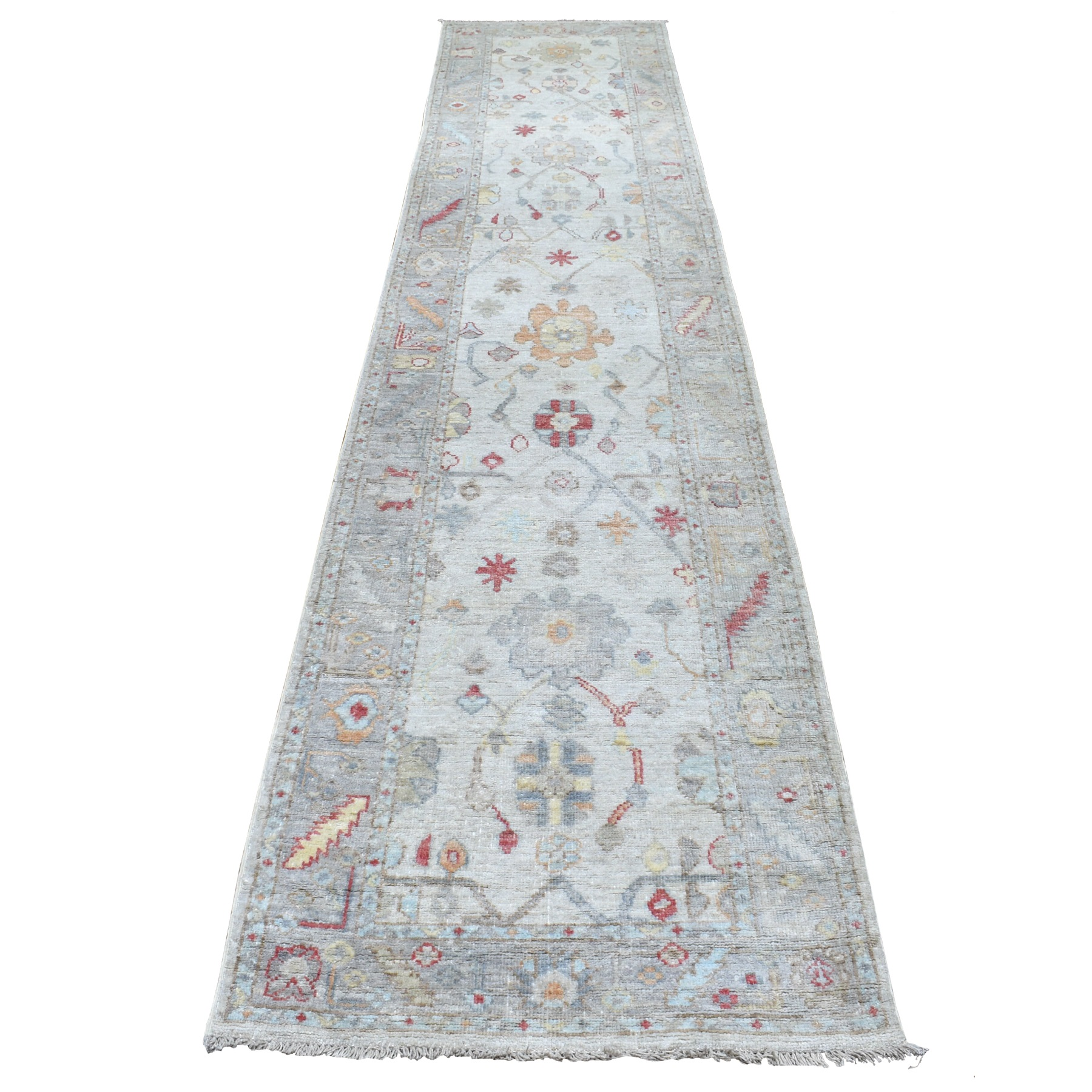 Agra And Turkish Collection Hand Knotted Grey Rug No: 1112702
