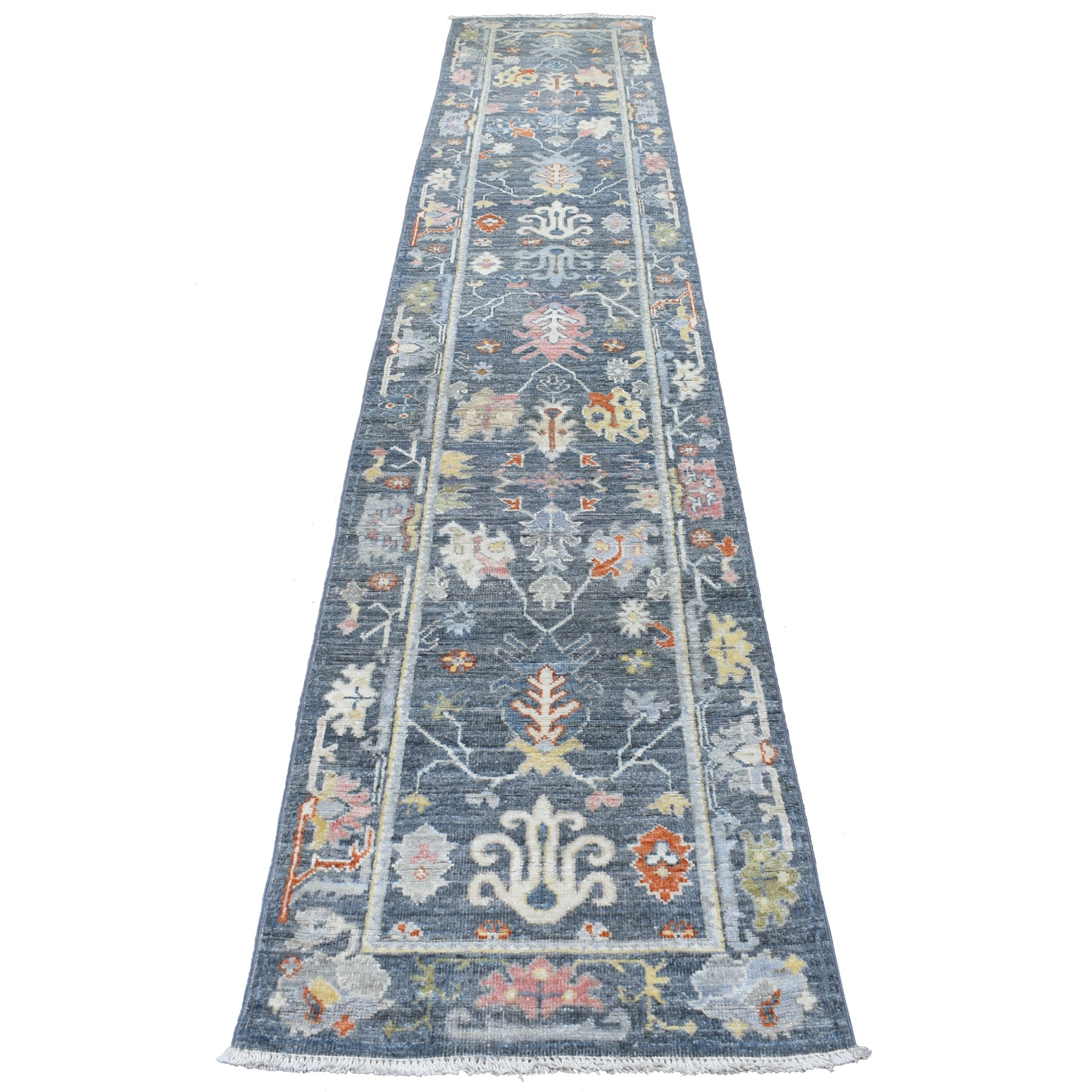 Agra And Turkish Collection Hand Knotted Grey Rug No: 1112708