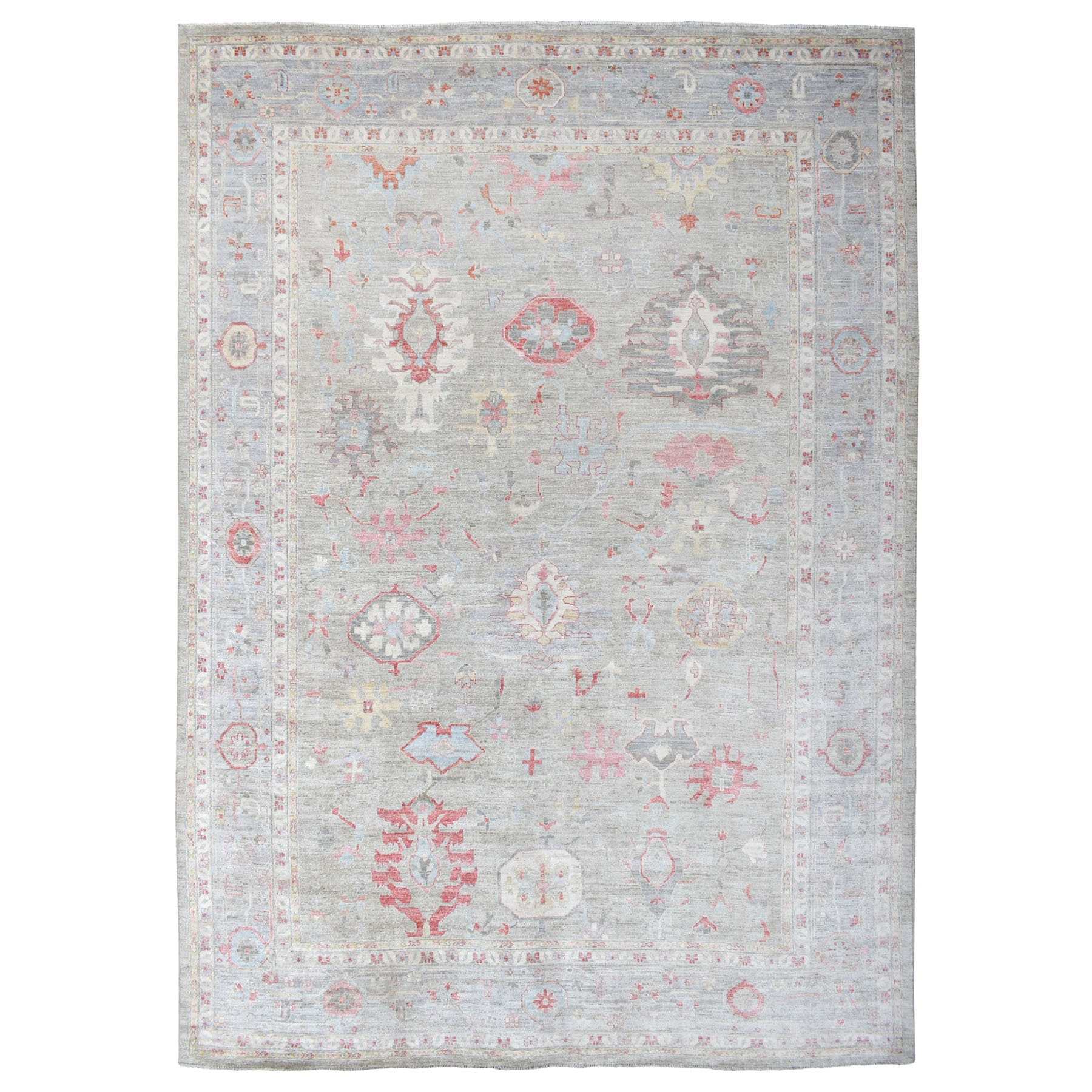 Agra And Turkish Collection Hand Knotted Grey Rug No: 1112772