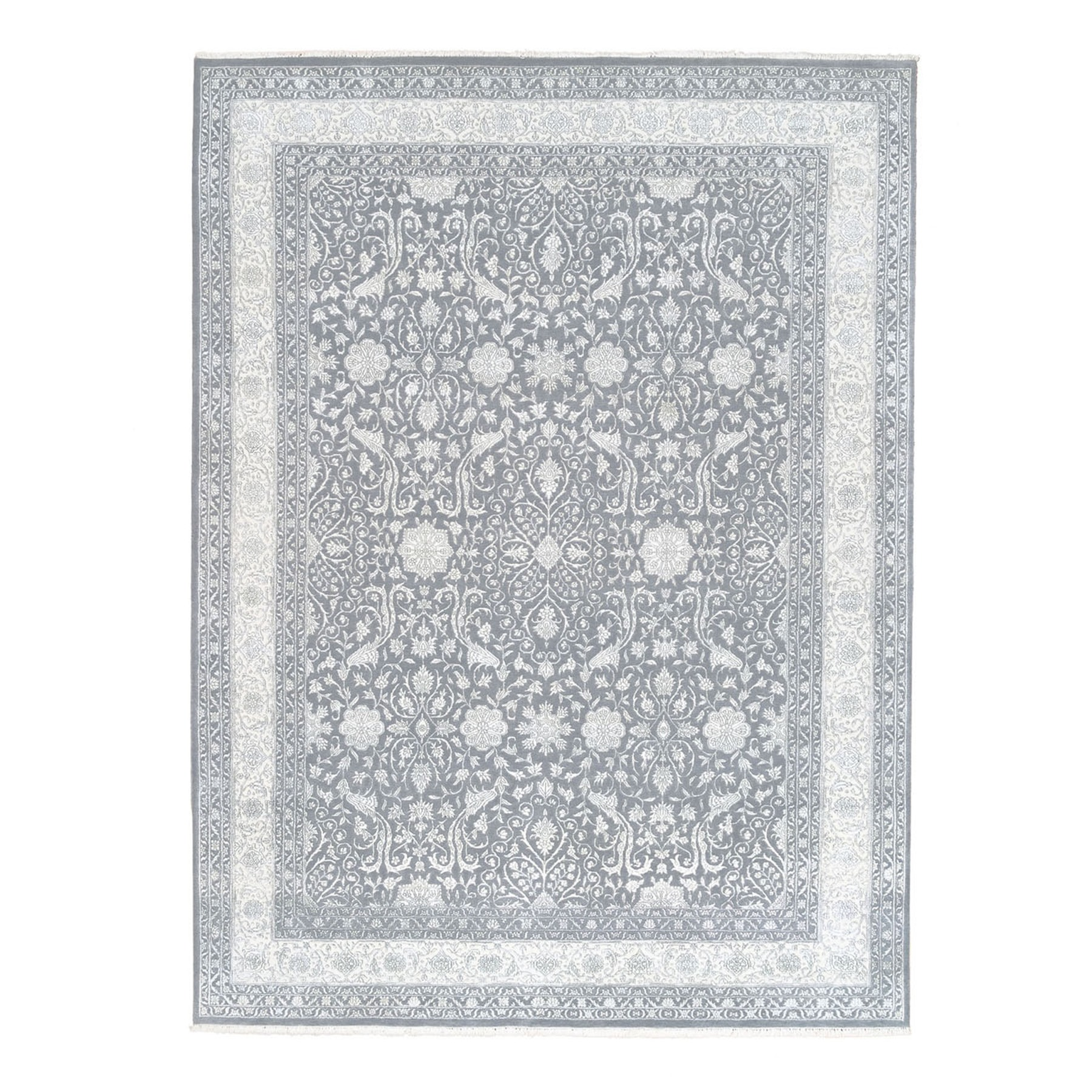 Pirniakan Collection Hand Knotted Grey Rug No: 1124480