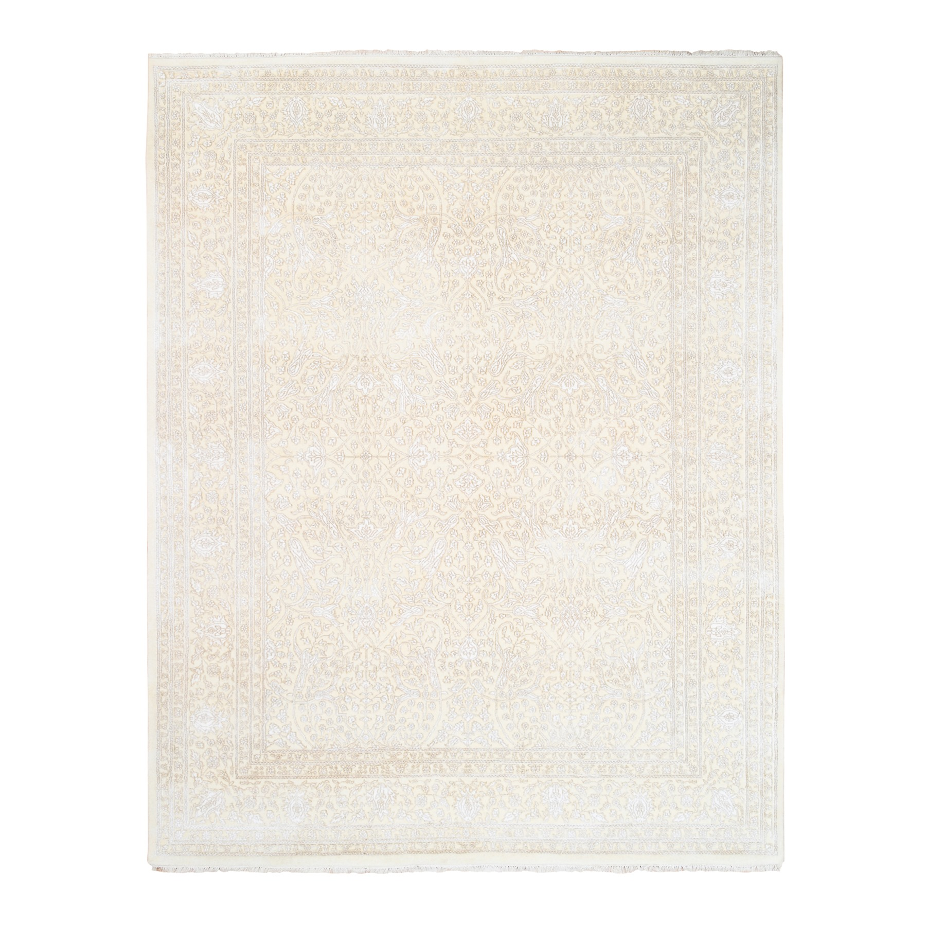 Pirniakan Collection Hand Knotted Ivory Rug No: 1124490