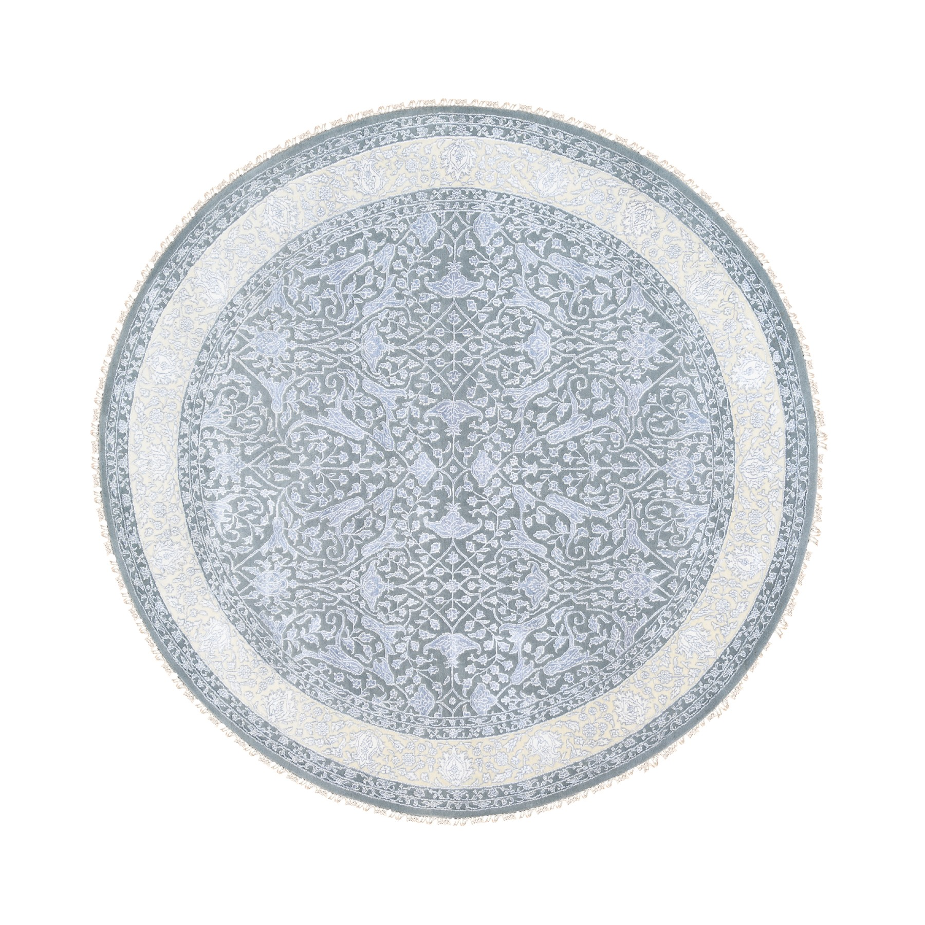 Pirniakan Collection Hand Knotted Grey Rug No: 1124502